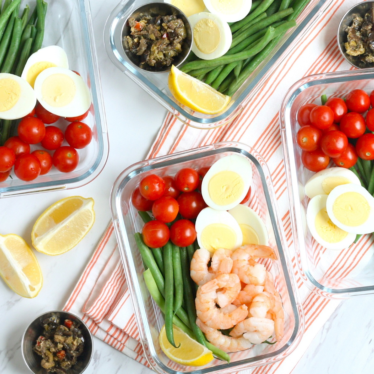 Shrimp Niçoise Meal-Prep Bowls Trusted Brands