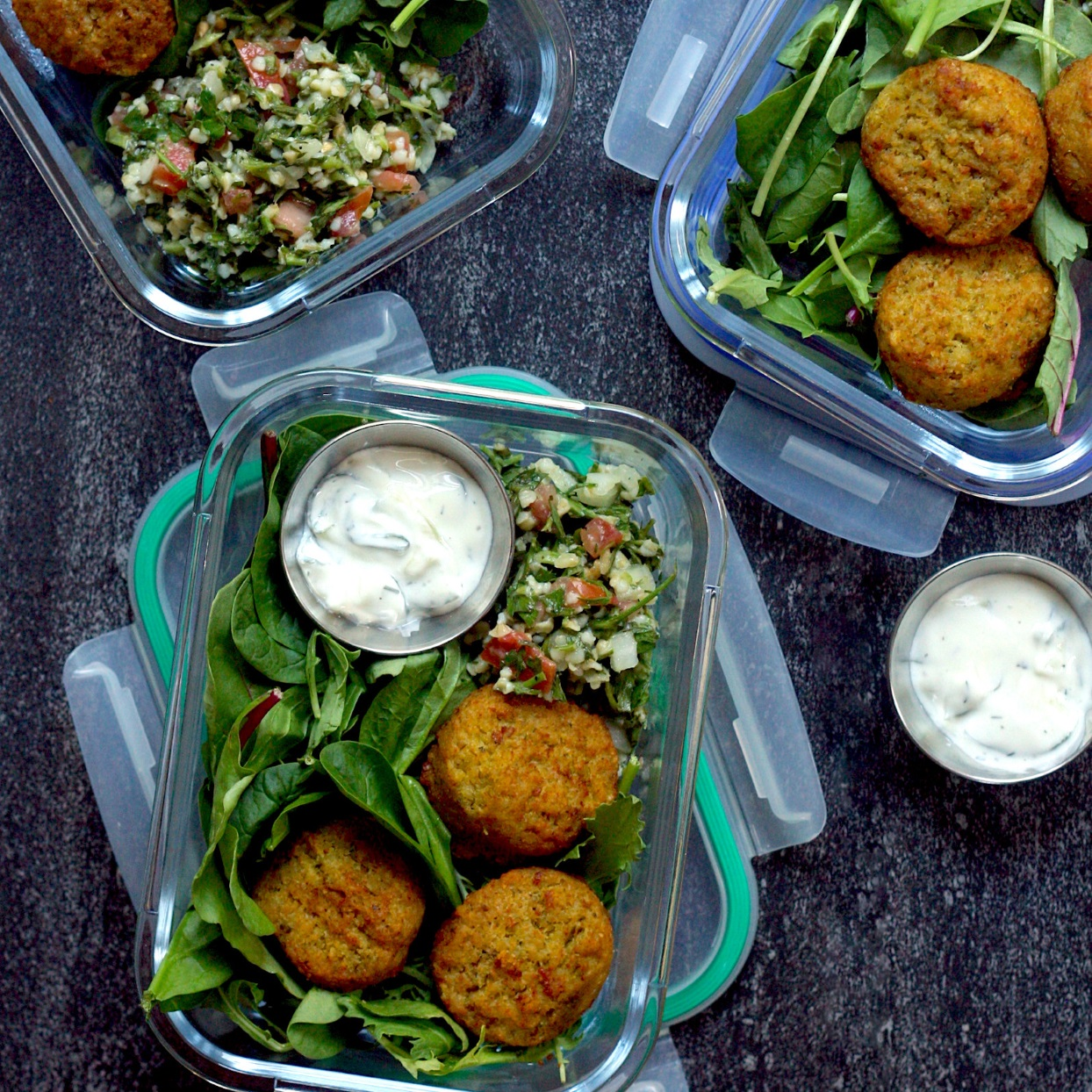 Falafel Tabbouleh Bowls with Tzatziki Trusted Brands