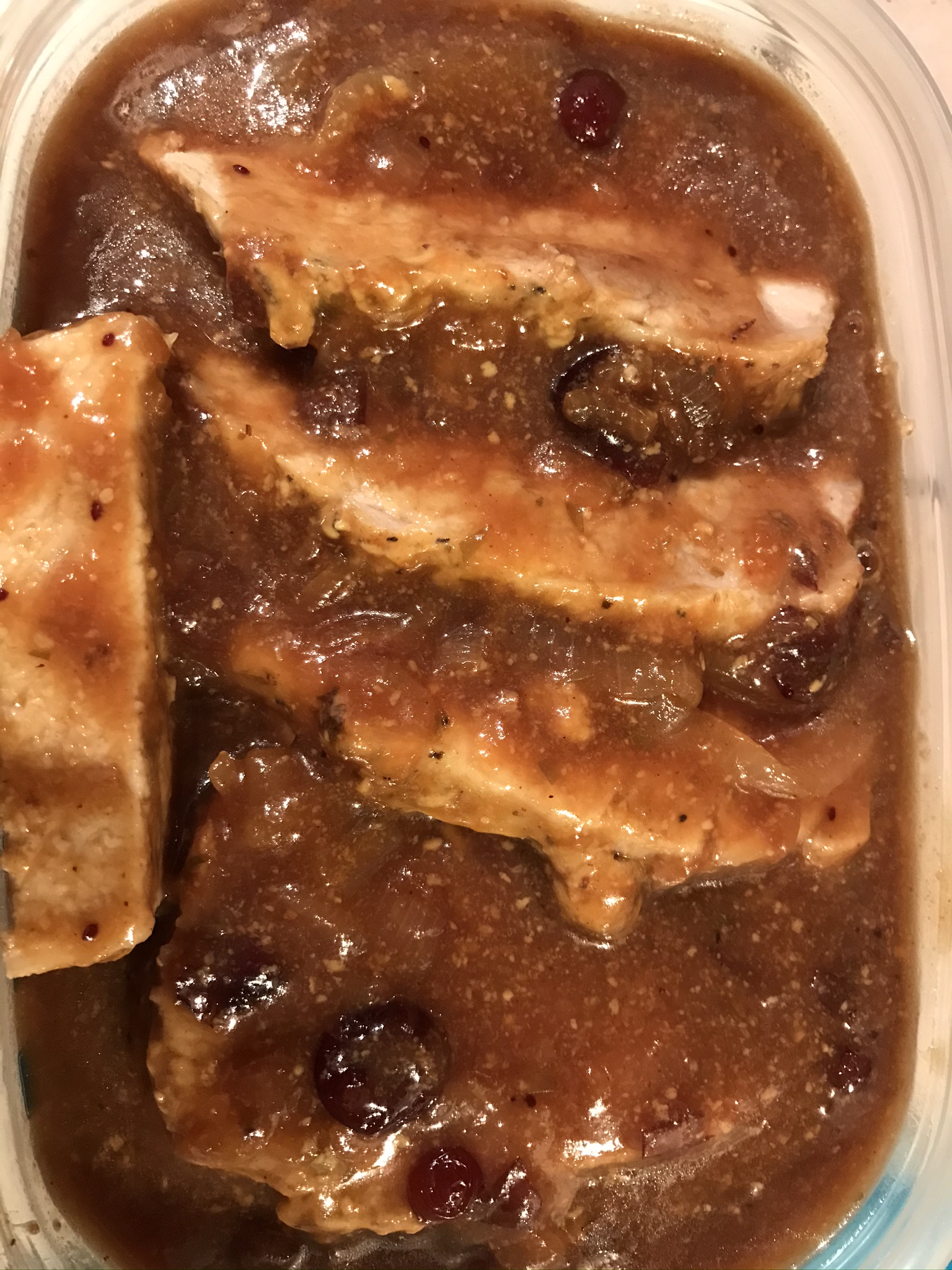 Instant Pot® Pork Loin in Cranberry-Dijon Sauce Llnelson2