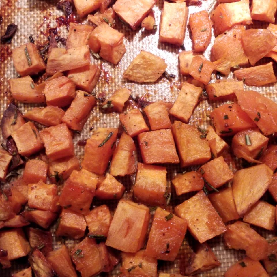 Honey and Rosemary Sweet Potatoes David Smith