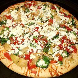 Pepper, Onion & Feta Pizza Jennecy