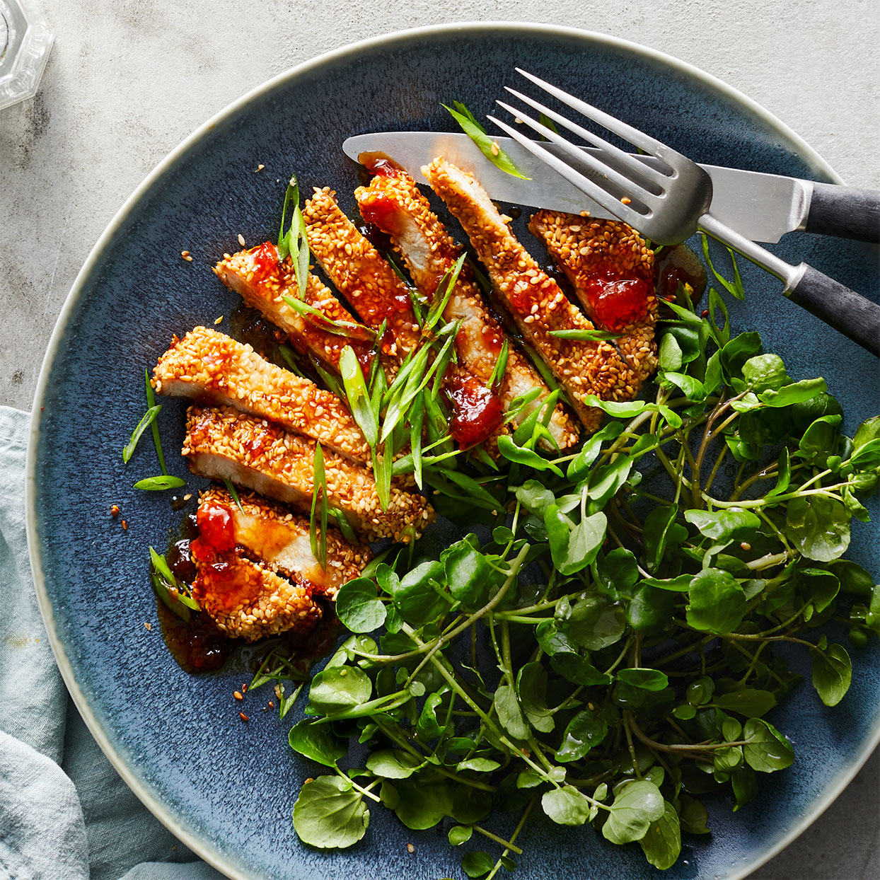 You'll recognize the classic Chinese flavor pairing of sesame, soy and white pepper on these sweet and sour pork chops. White pepper is more mild and earthy than black pepper, but either will work here. Source: EatingWell Magazine, January/February 2020