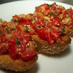 Jen's Tomato Arugula Bruschetta Lillian