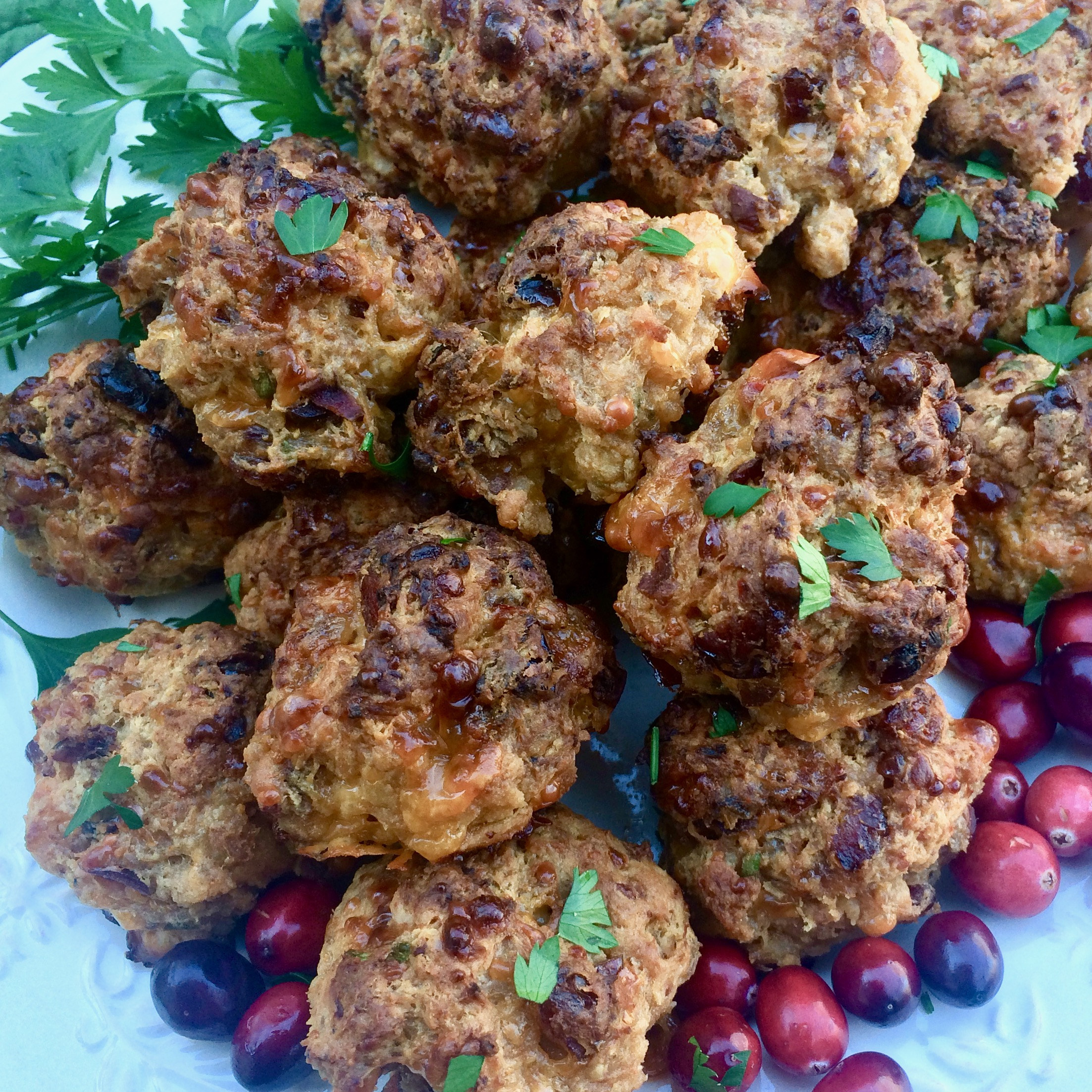 Spicy Cranberry Sausage Balls