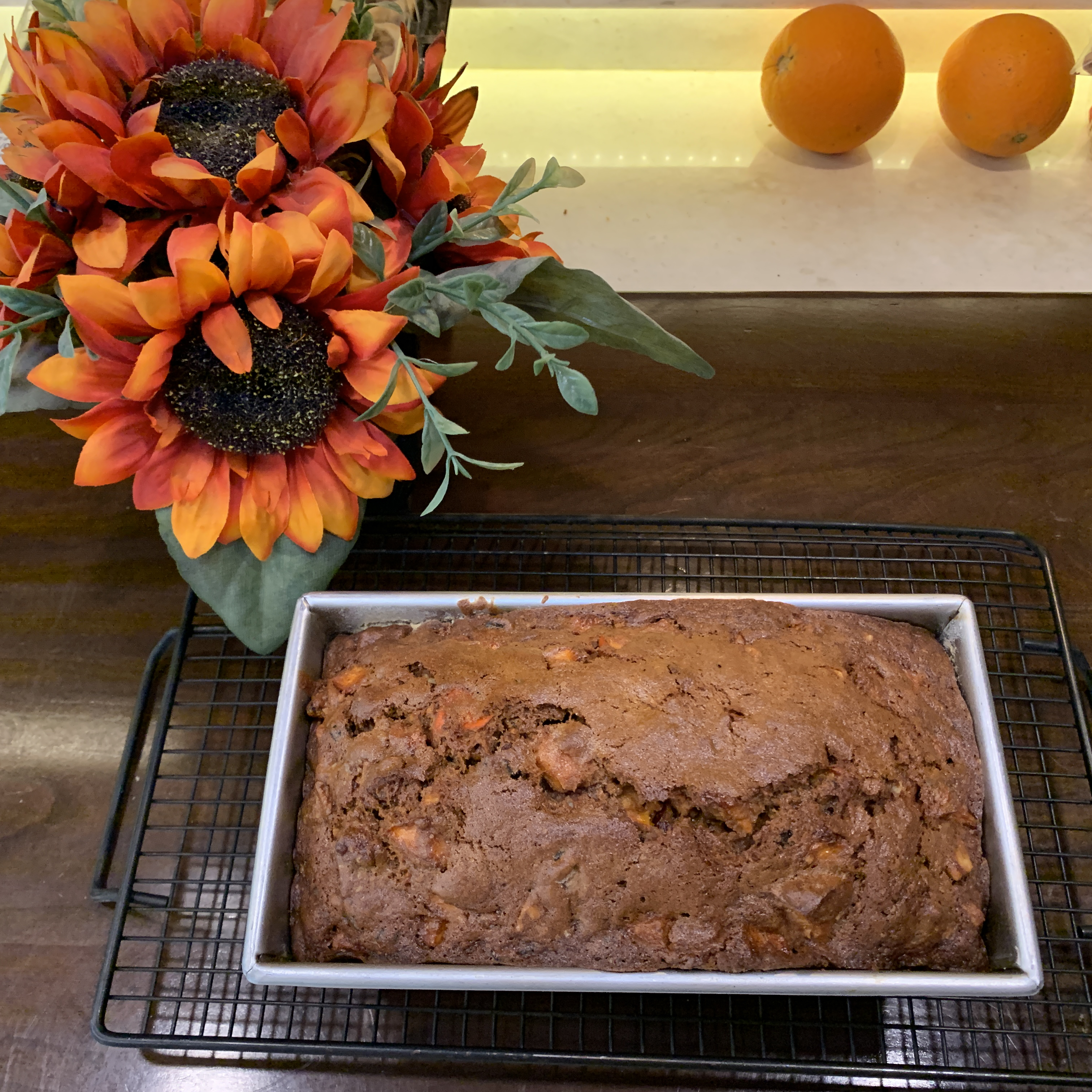 Christmas Cranberry-Persimmon Loaf Char Black