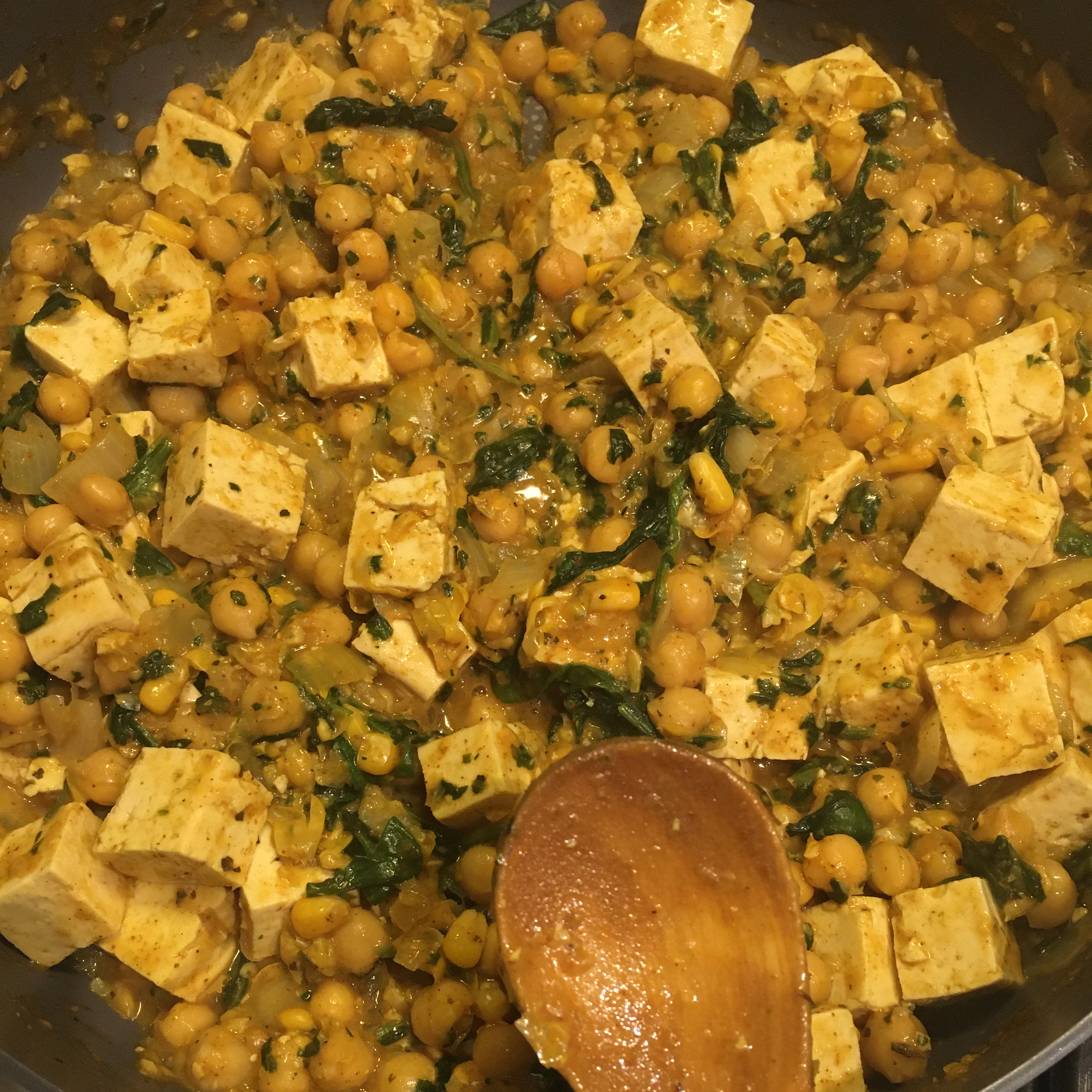 Spinach Chickpea Curry Aiden Nagle