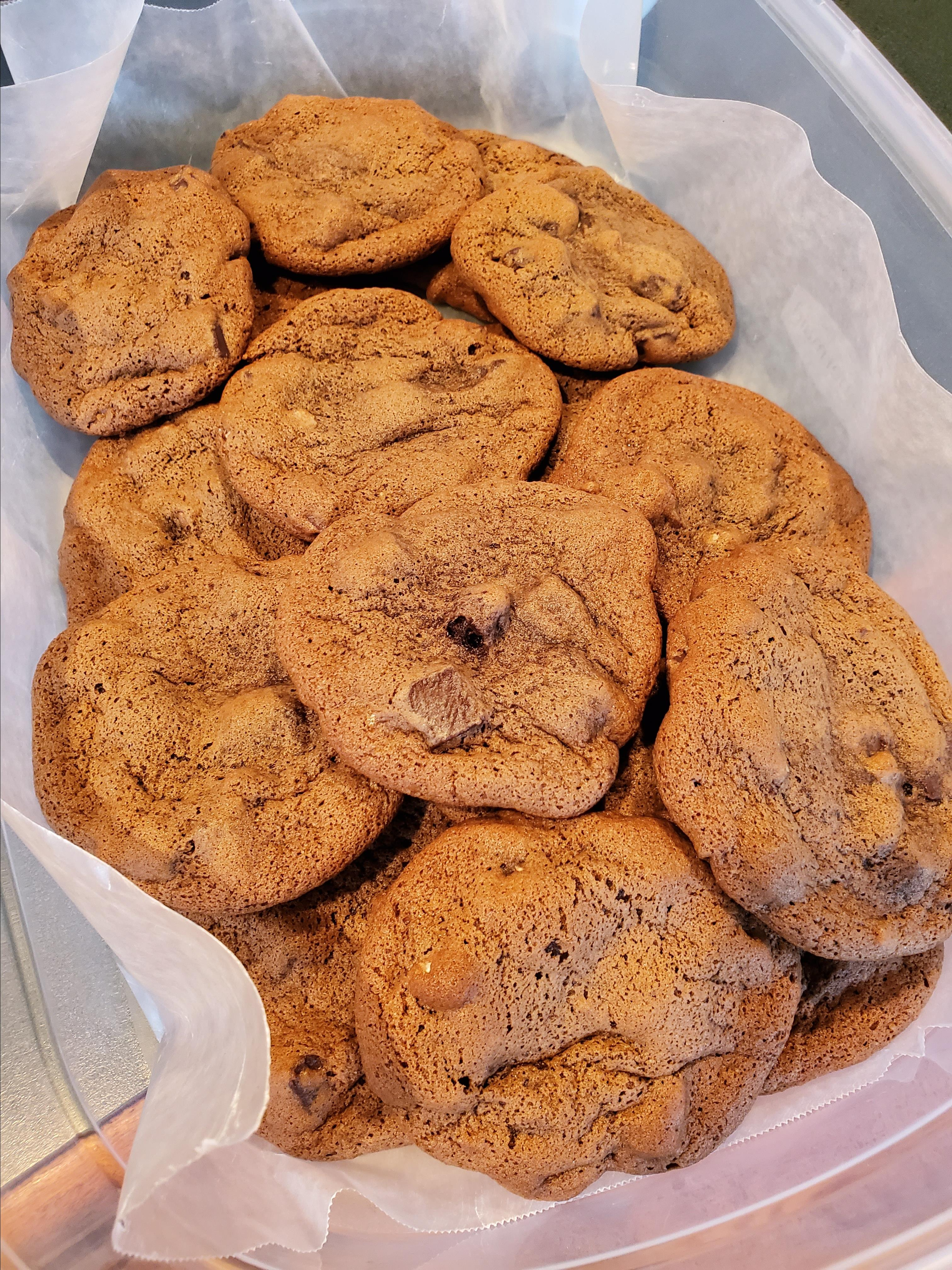 Best Ever Chewy Chocolate Chocolate Chunk Cookies