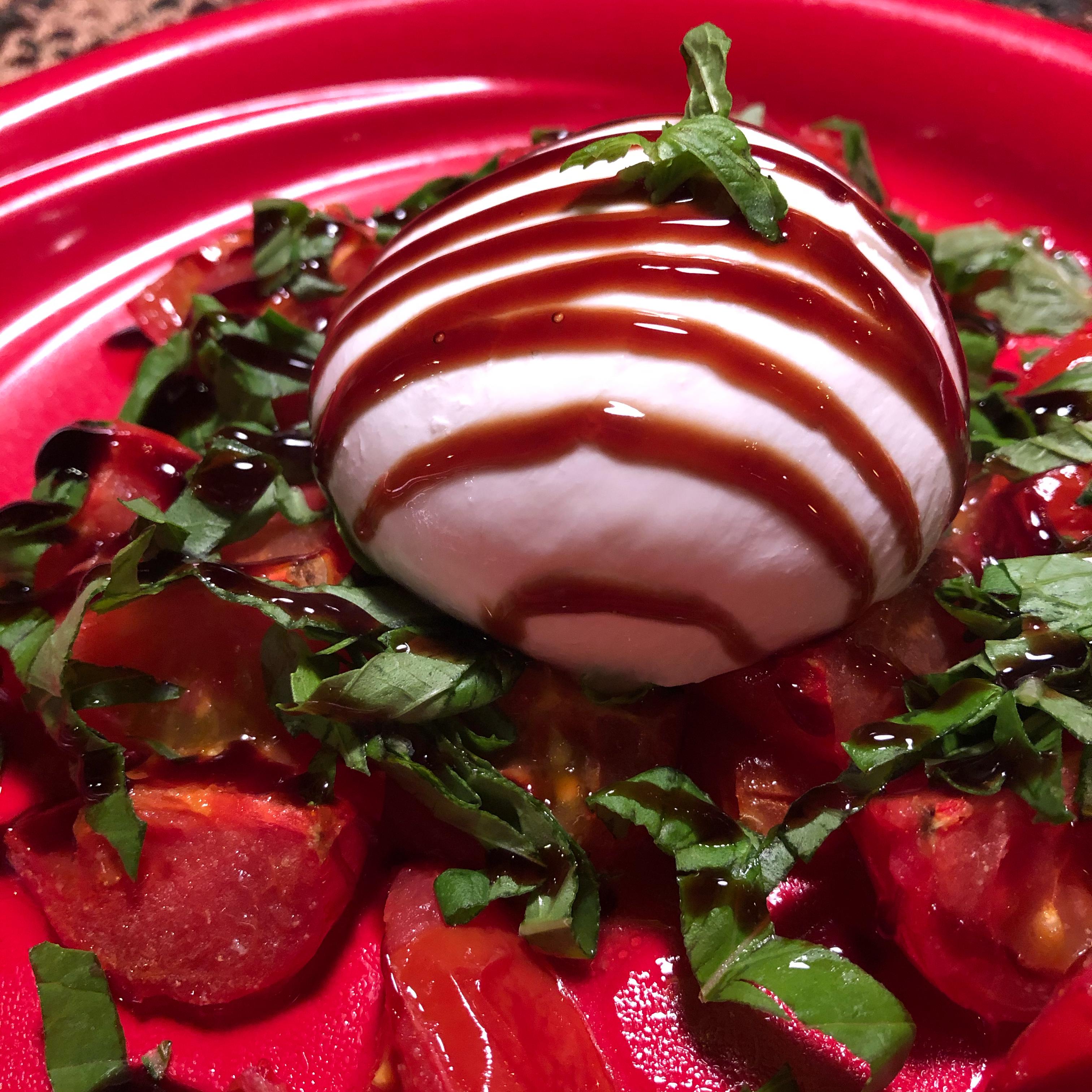 Roasted Tomatoes and Burrata Caprese Salad Mike