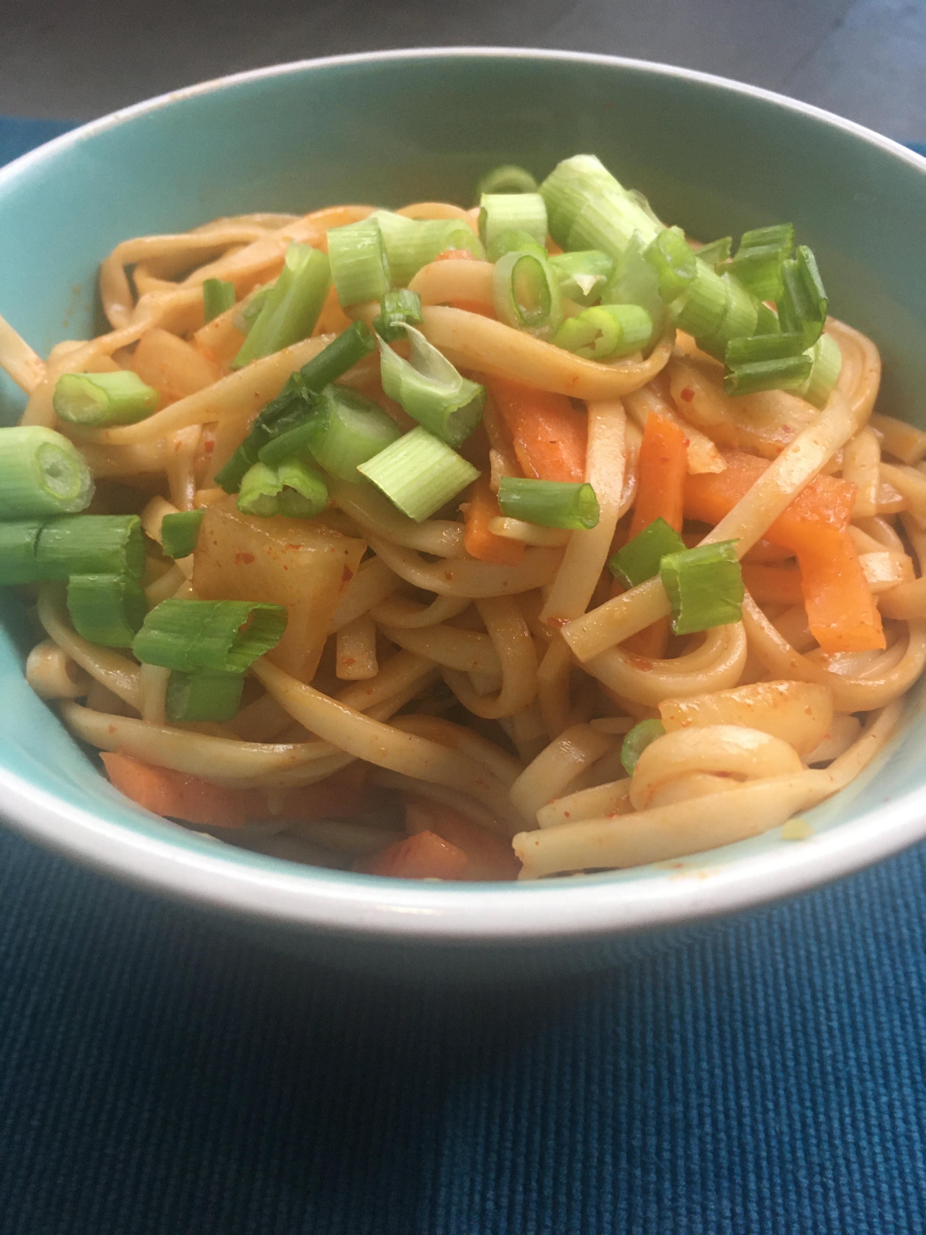 Kimchi Udon Noodle Stir-Fry Marianne