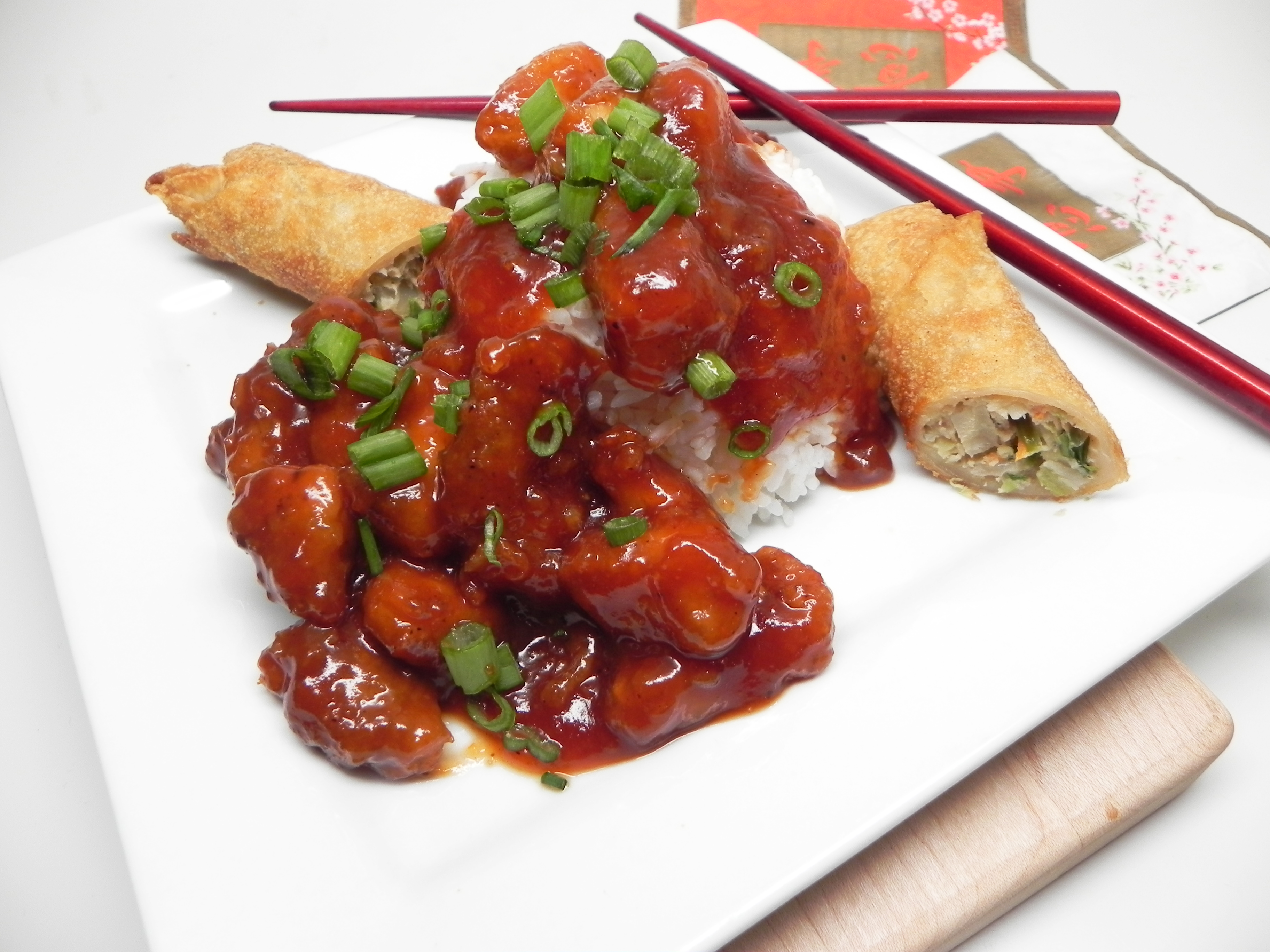 """Skip takeout and make your own sweet and sour pork at home,"" says Soup Loving Nicole. ""I like to toss some egg rolls in the air fryer while it is hot so that the meal has that full Chinese takeout feel to it. Serve over rice if desired."""