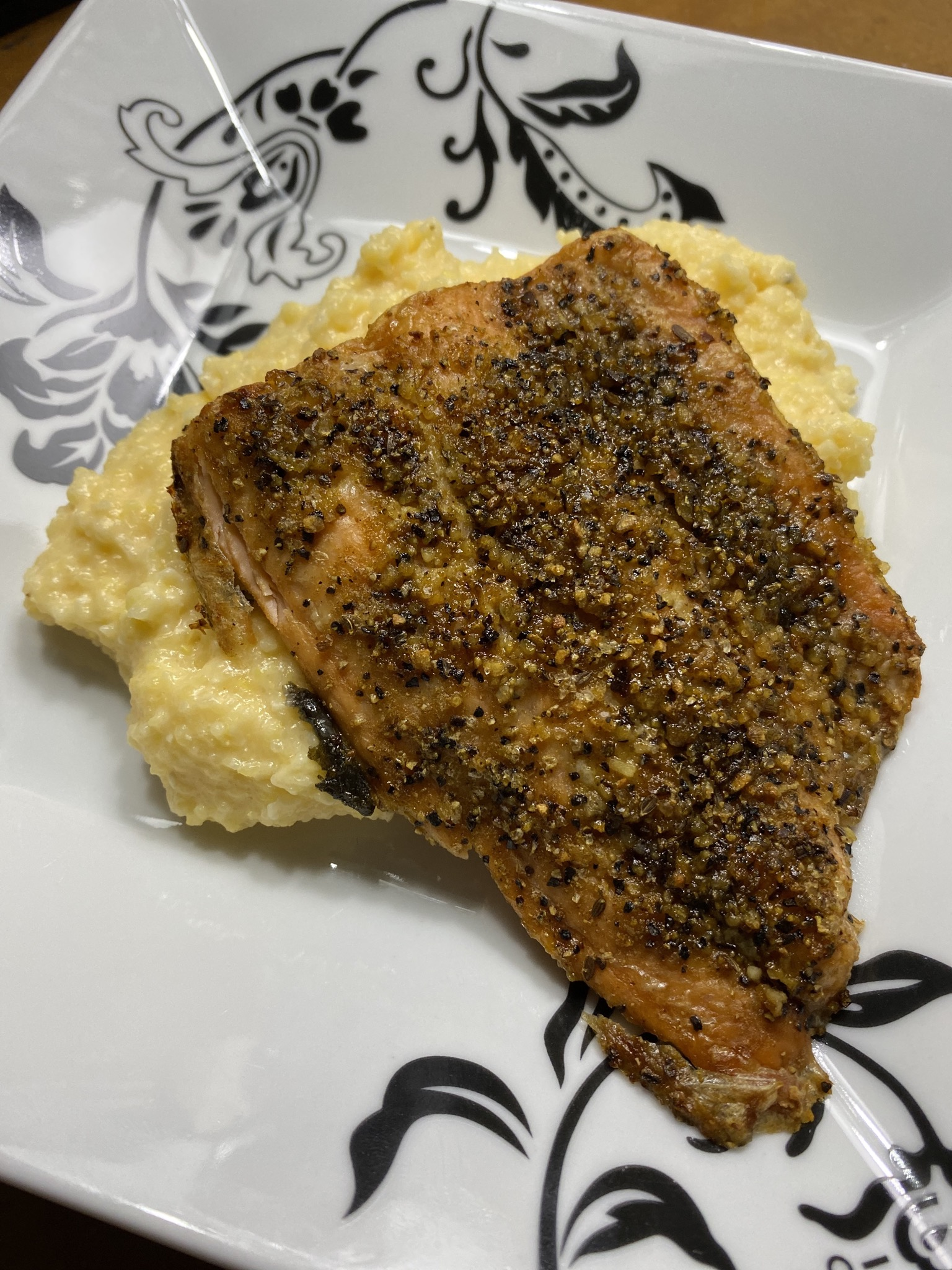 Spicy Air Fryer Salmon