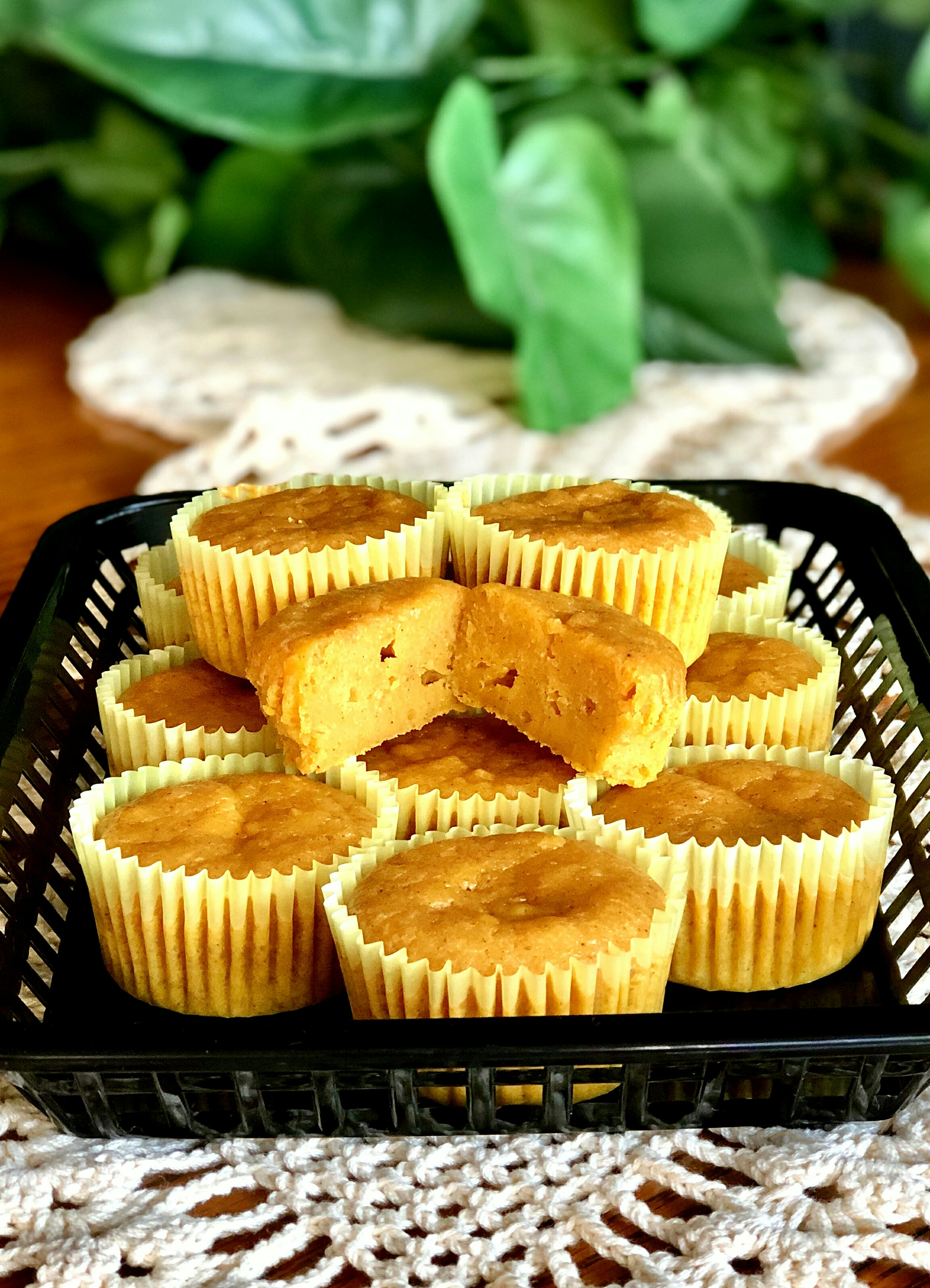 Banana-Pumpkin Cupcakes