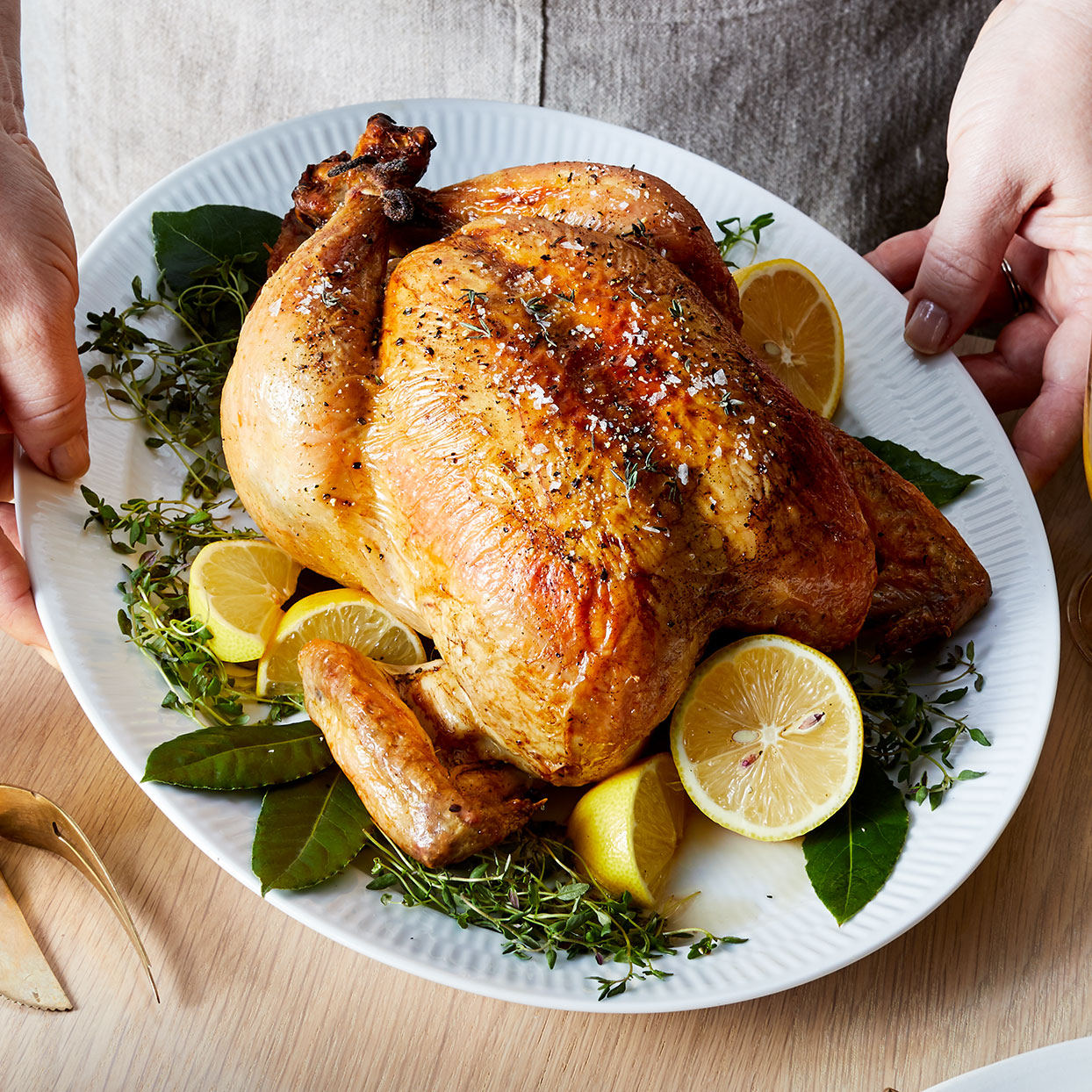 This recipe proves that learning how to roast a whole chicken can be easier (and more delicious) than you thought. For extra-crispy skin, remove the chicken from the brine, dry with paper towels and refrigerate for an additional 24 hours before roasting. Source: EatingWell Magazine, January/February 2020