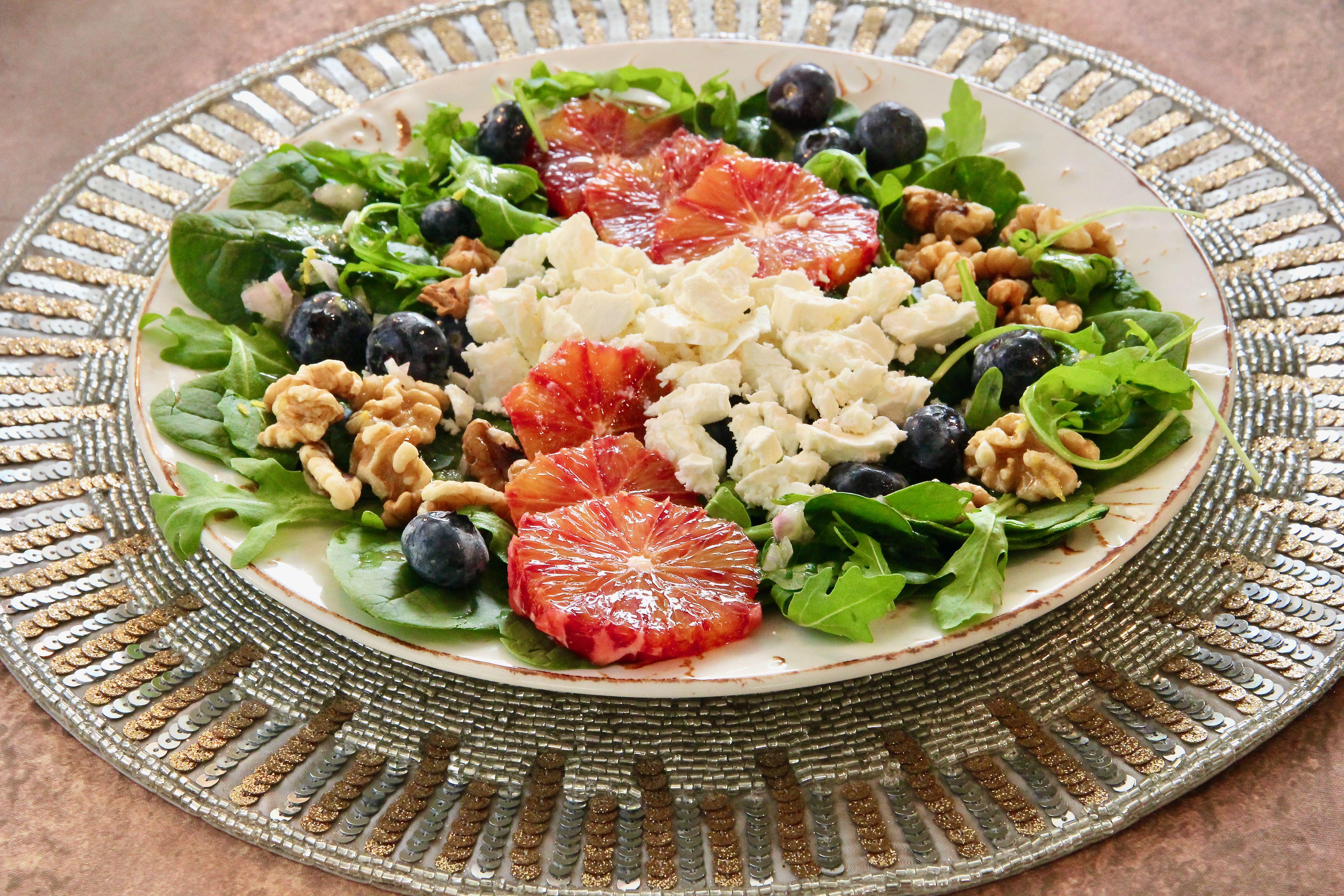 Blood Orange, Blueberry, and Feta Salad