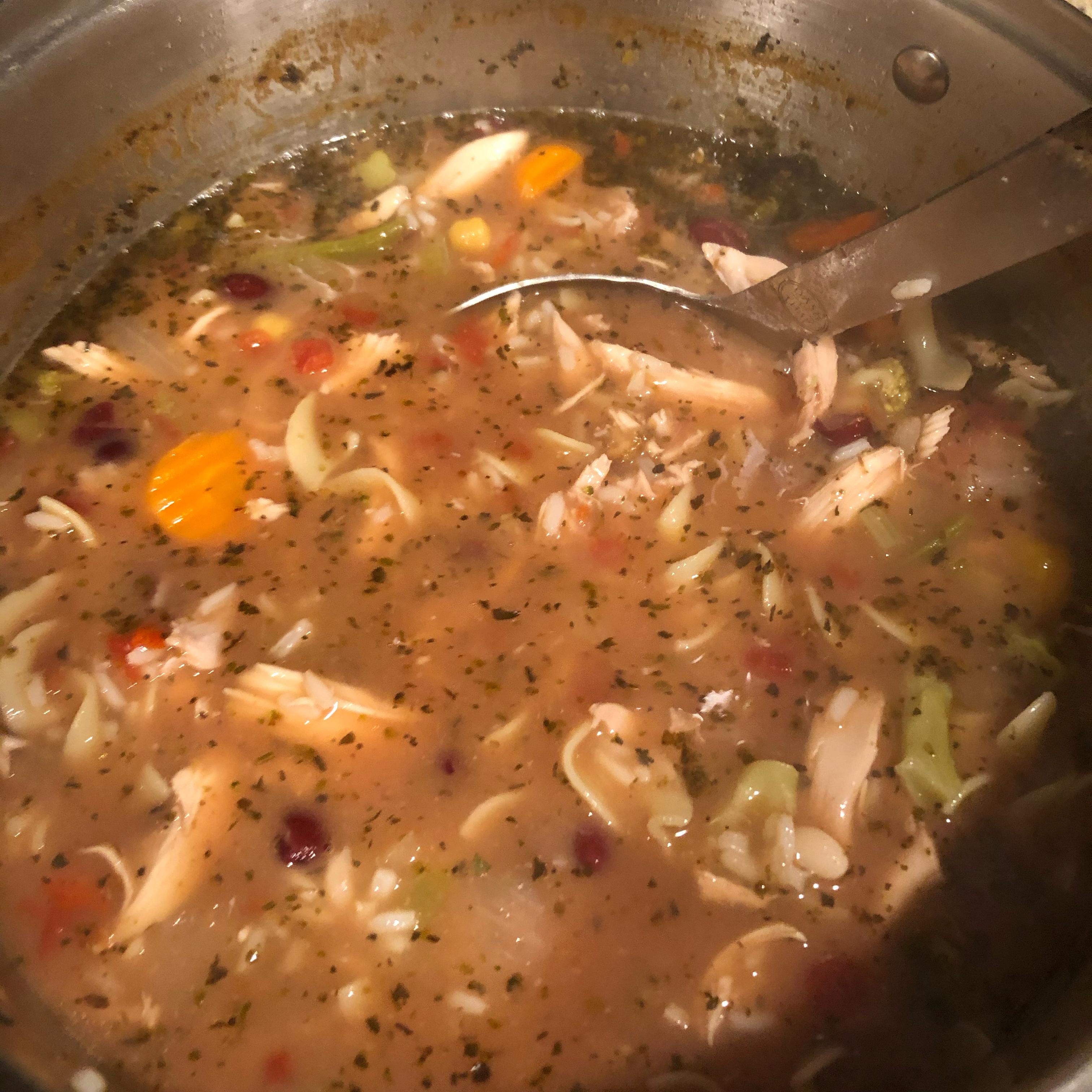 Turkey Bone Soup