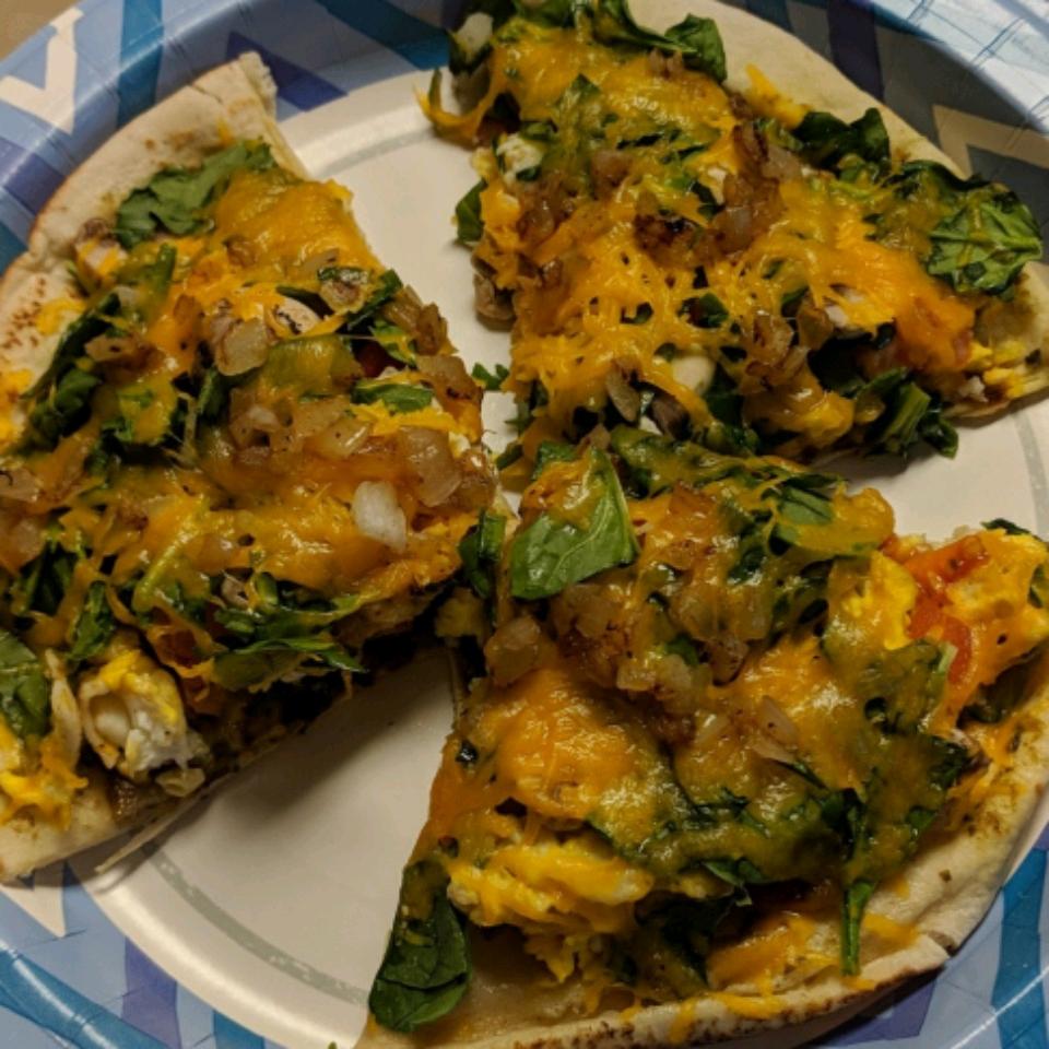Breakfast Pita Pizza Joshua Lenz