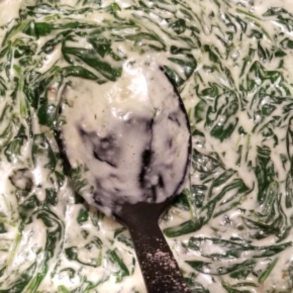 Creamed Spinach with Onions and Bacon Kim
