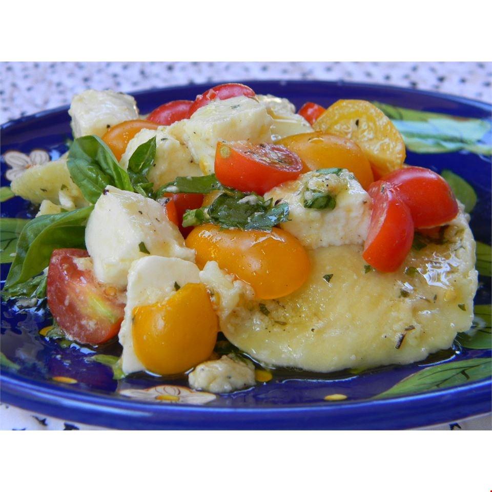 Ravioli with Cherry Tomatoes and Cheese Catherine Mandell