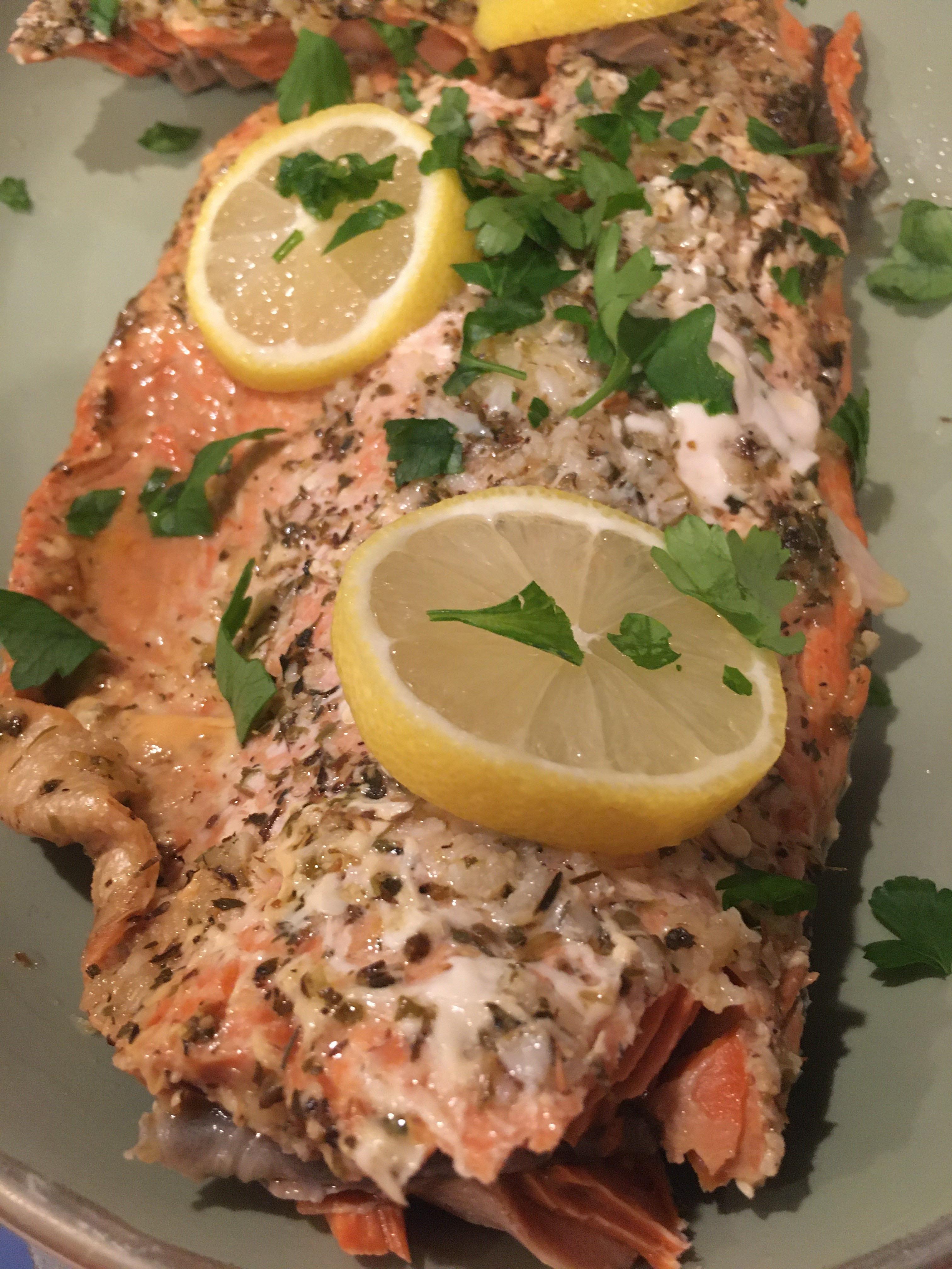 Baked Salmon in Foil Marianne