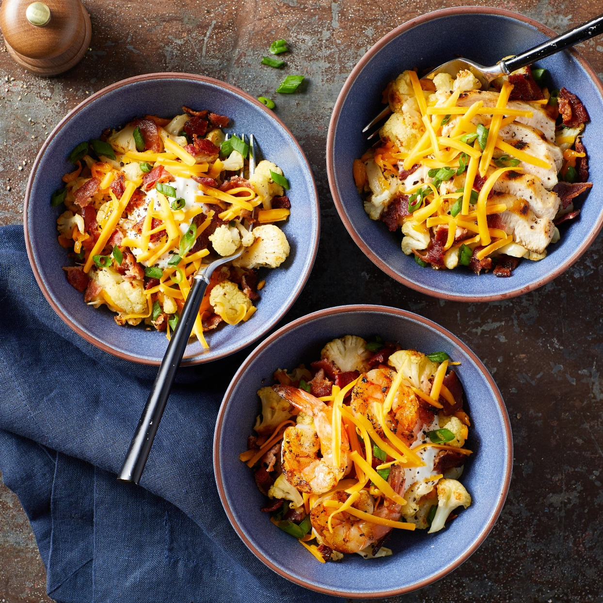 Loaded Cauliflower Bowls Trusted Brands
