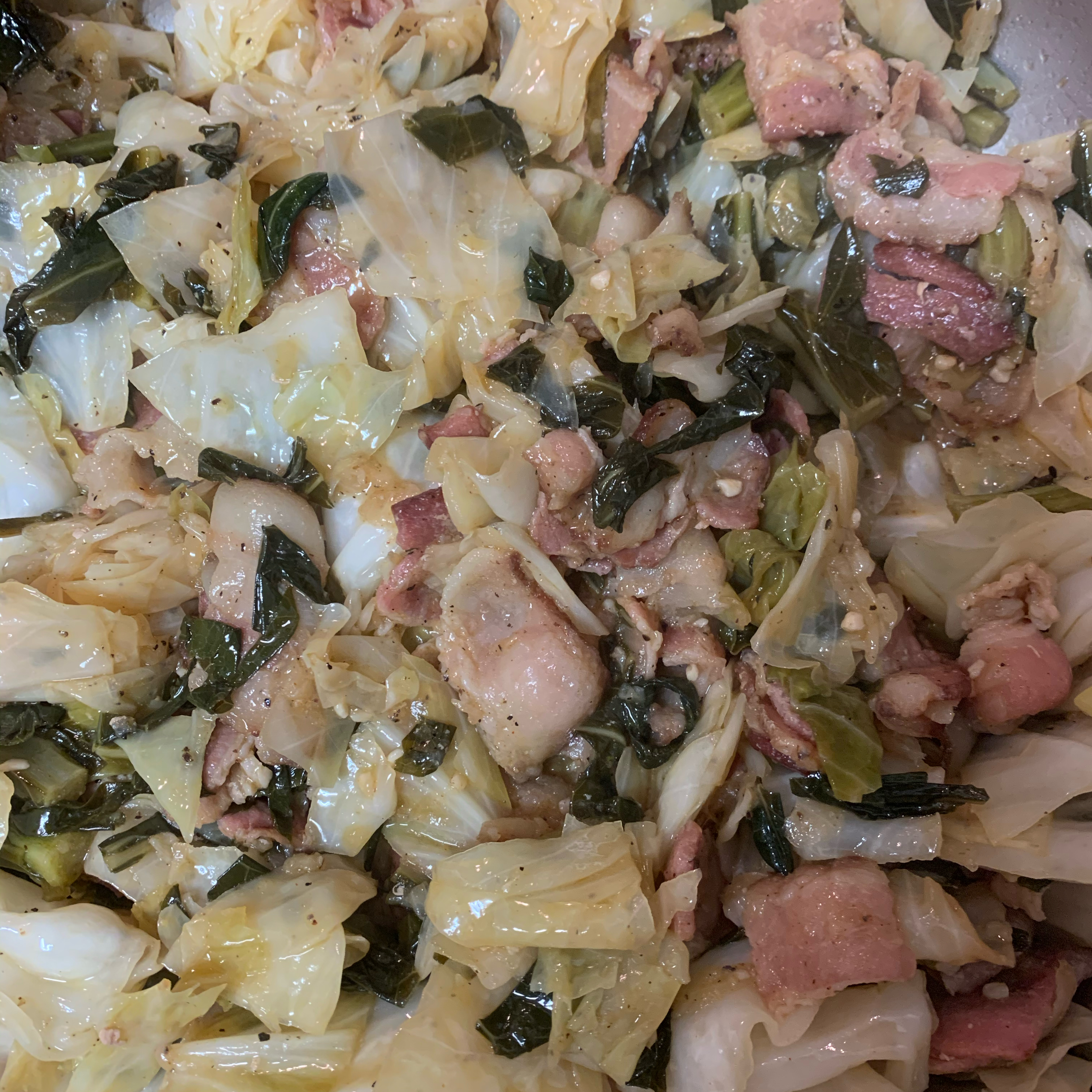 Smothered Collard Greens and Cabbage Michael Meyers