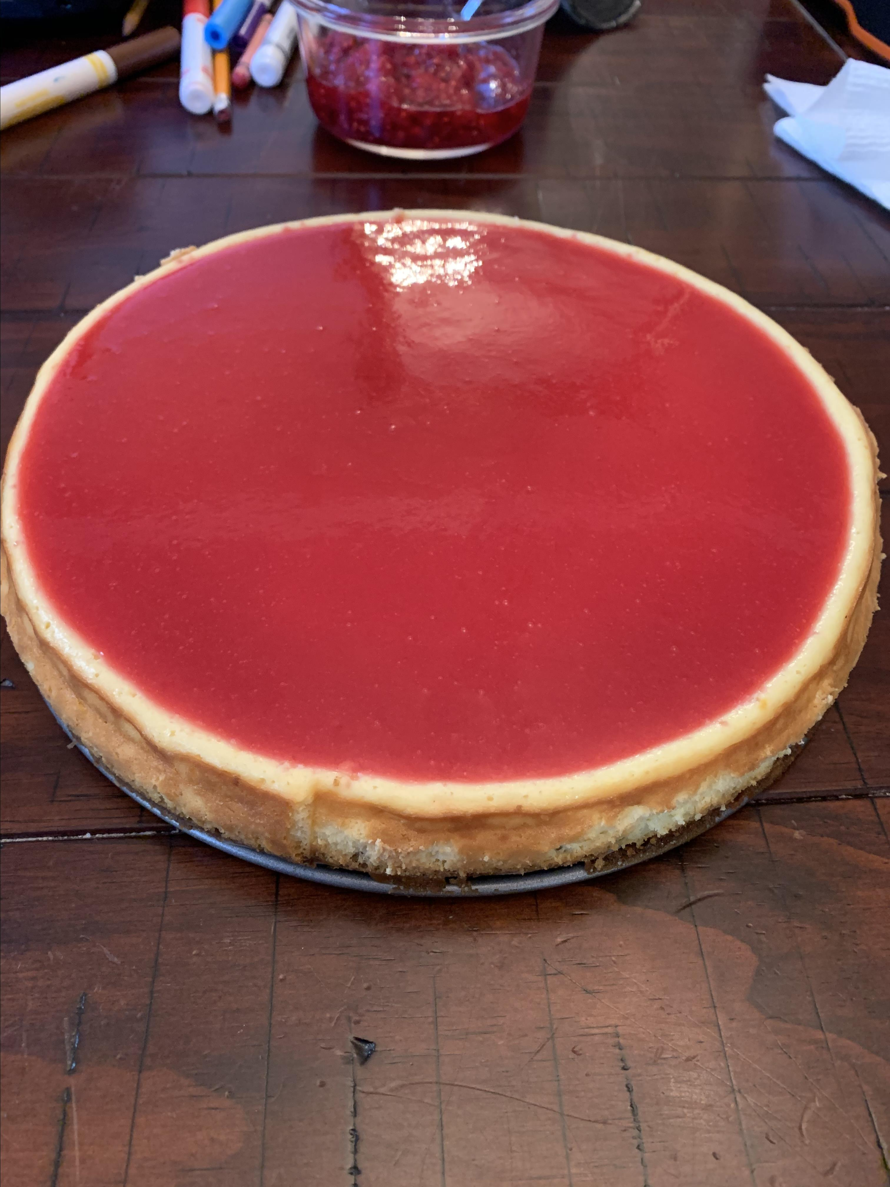 Cheesecake with Cranberry Glaze and Sugared Cranberries Jessica Genovy