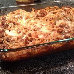 The Best Spaghetti Casserole