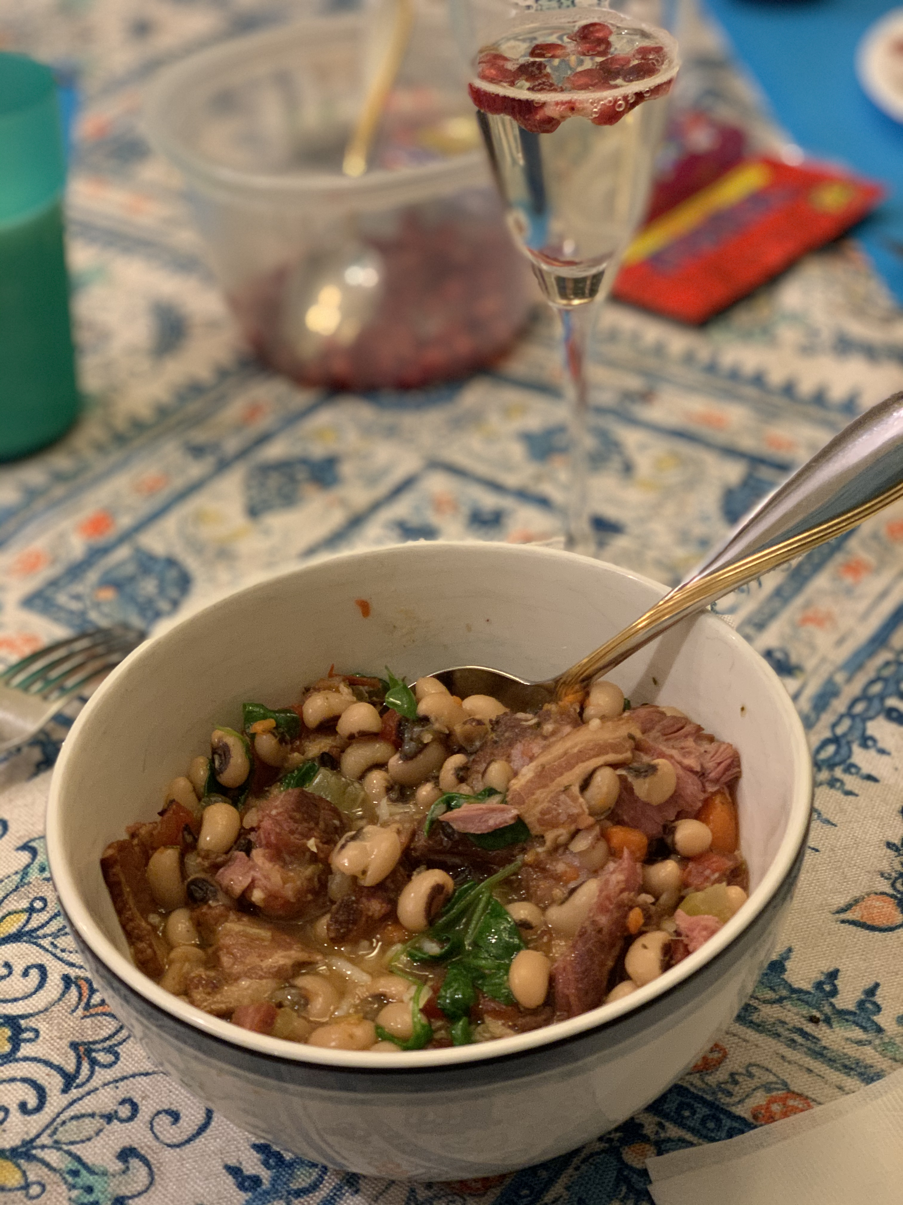 Black-Eyed Peas with Pork and Greens