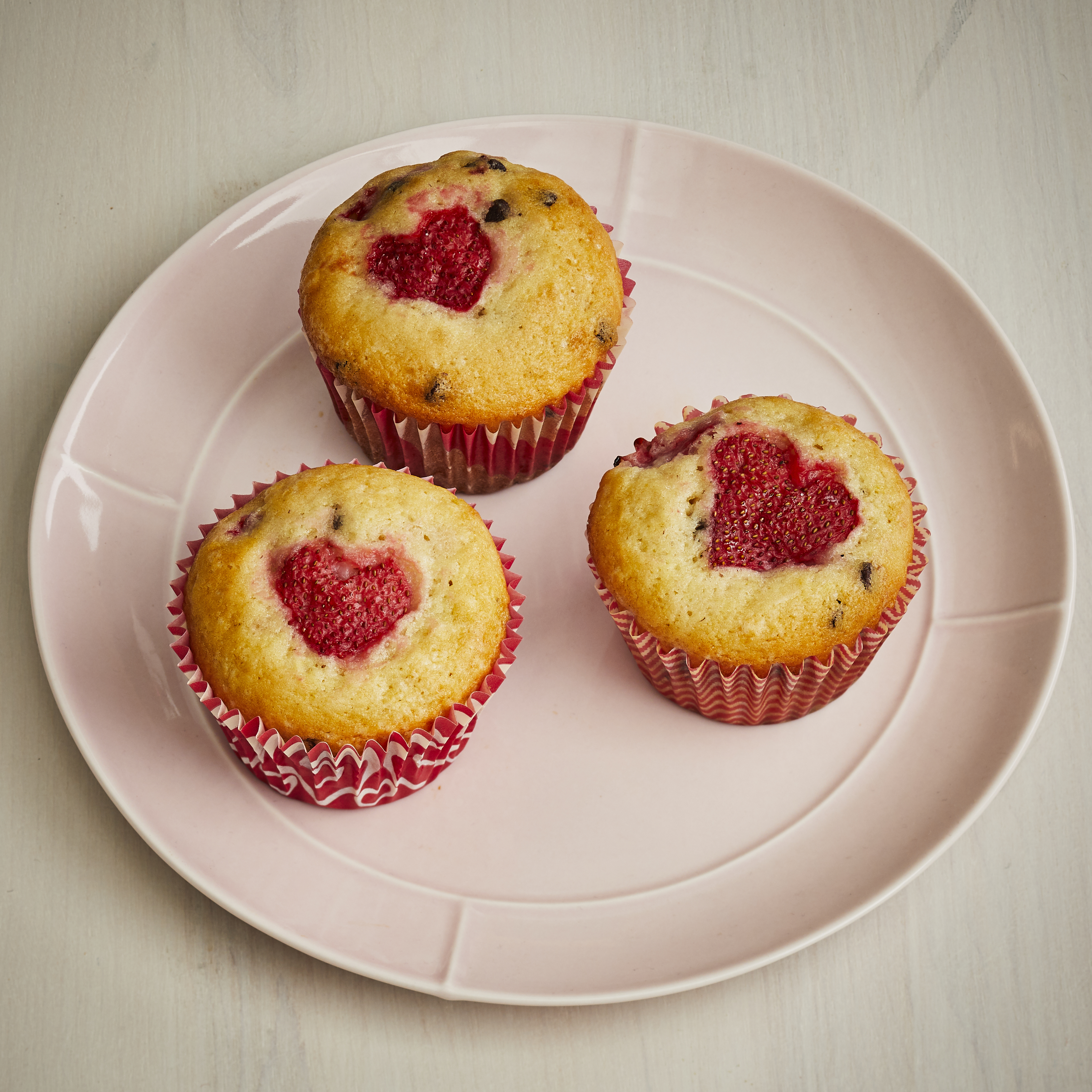 Valentine's Day Strawberry Muffins Trusted Brands