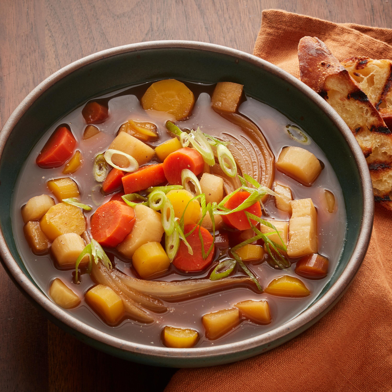 Slow Cooker Root Veggie Winter Soup