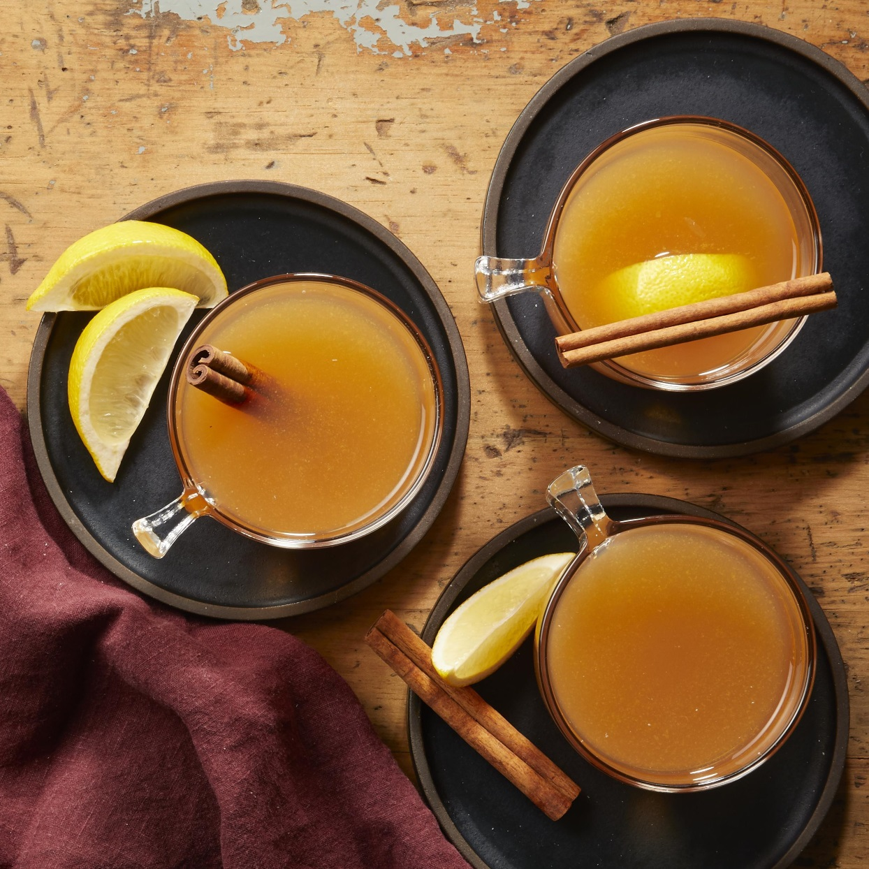 Cinnamon, cloves and ginger infuse apple cider with fall flavor.