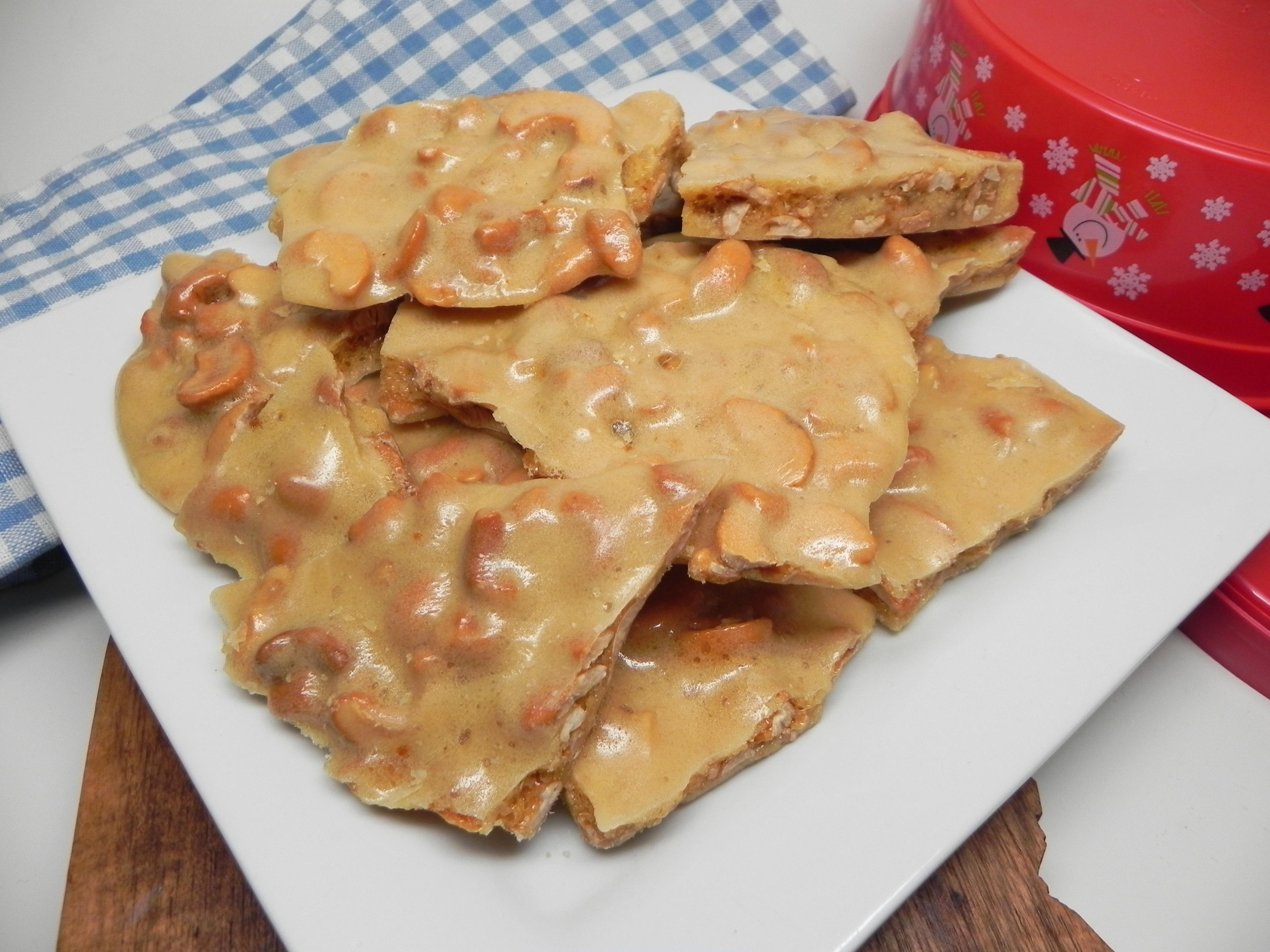 Microwave Cashew Brittle