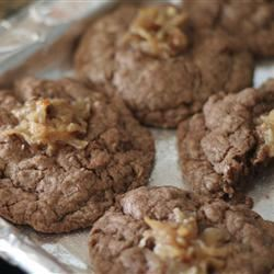 German Chocolate Thumbprint Cookies PinkPenguinStar