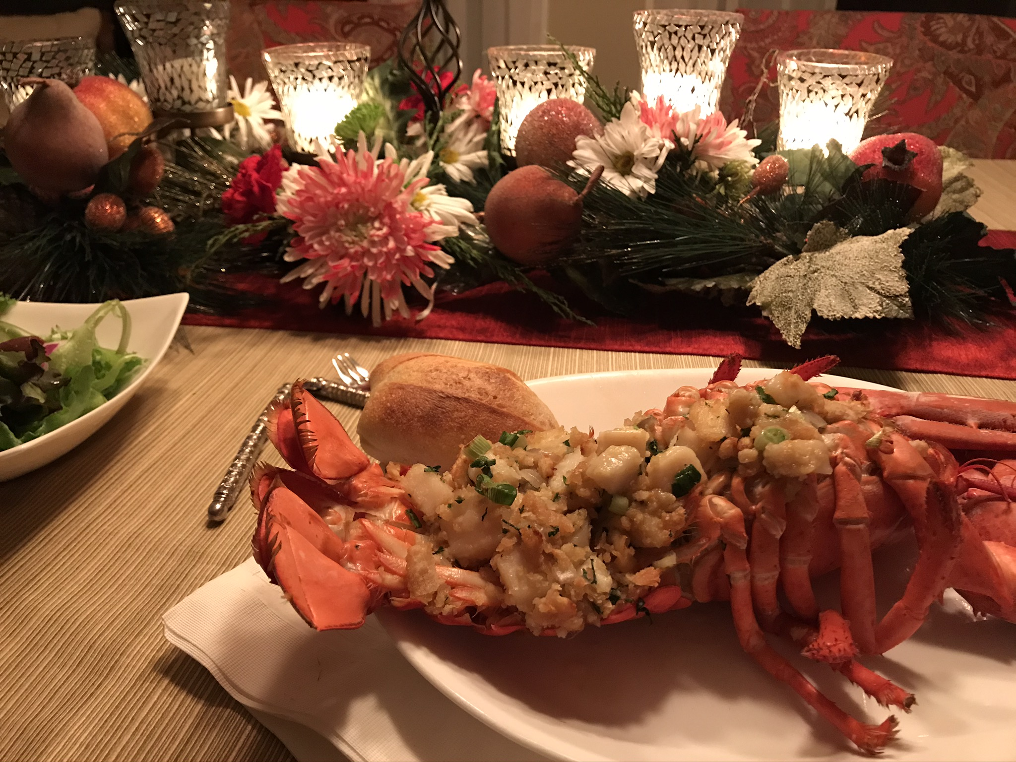 Special Occasion Baked Stuffed Lobster Pam