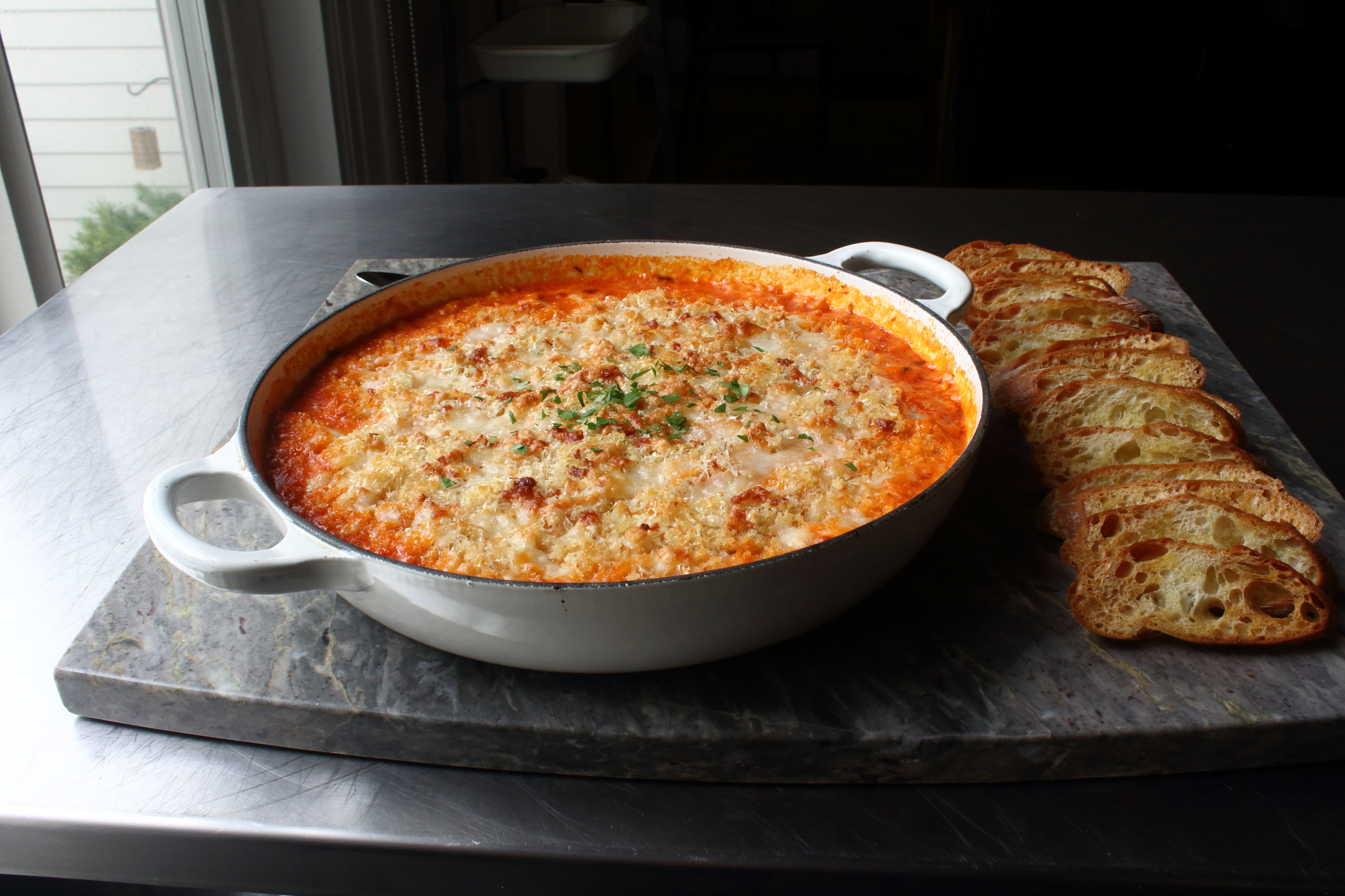 Baked Chicken Parmesan Dip