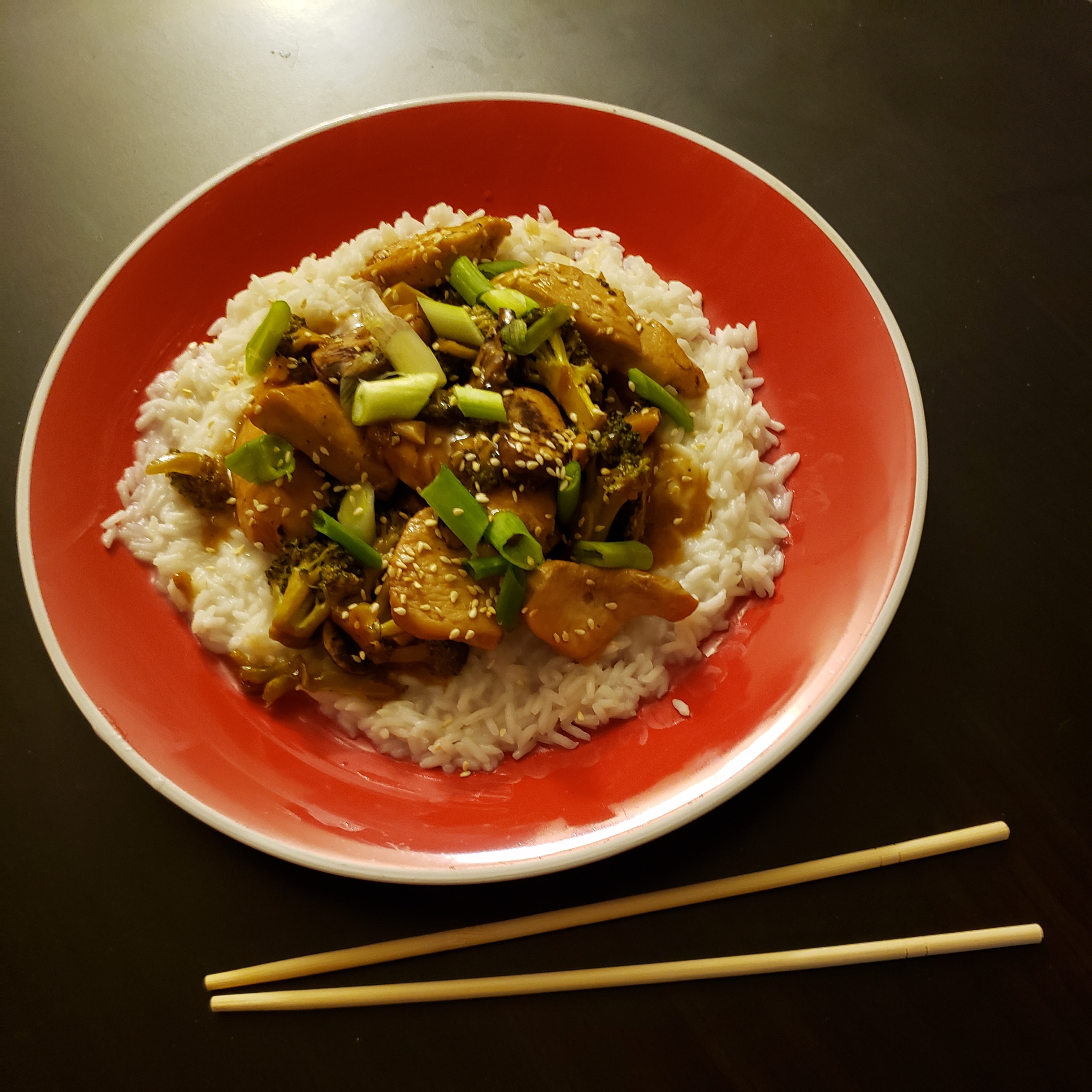 Teriyaki Chicken with Mushrooms and Broccoli Michael Genson