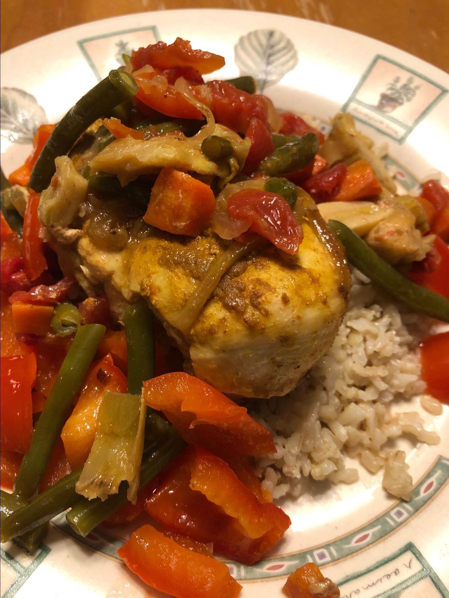 Slow Cooker Mediterranean Chicken and Vegetables Lisa Grimes