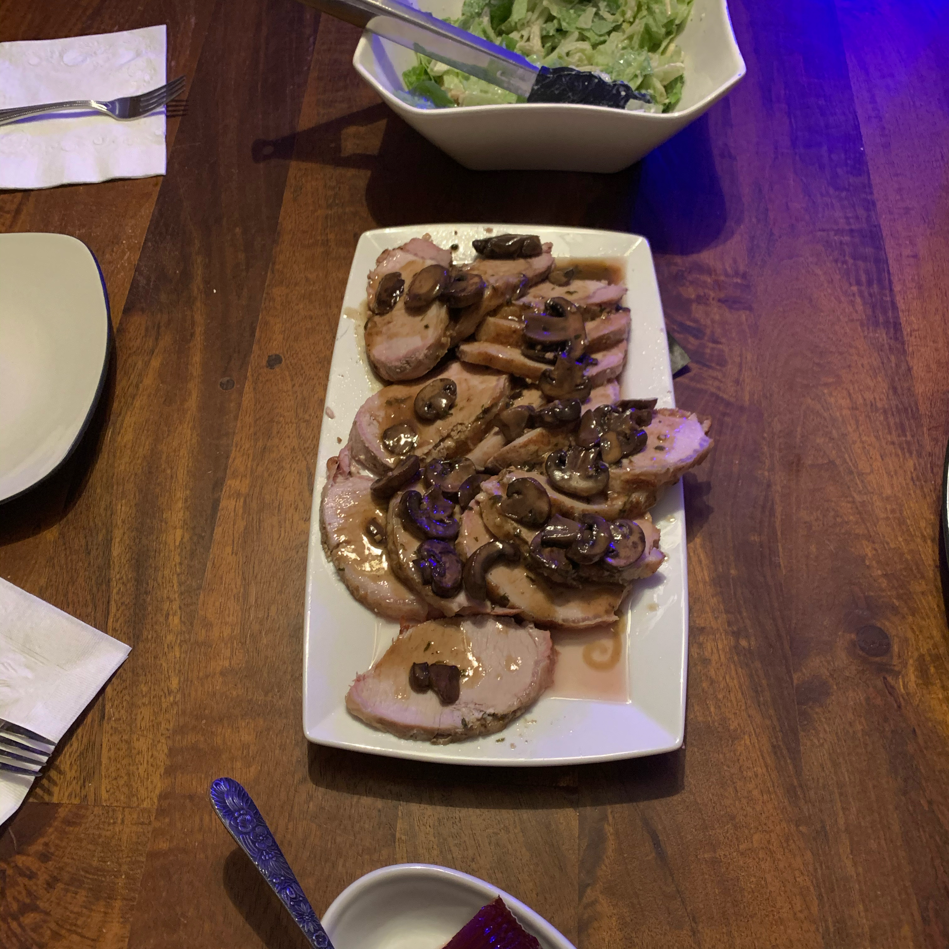 Pork Loin Roast with Baby Bellas Frank Del Vecchio