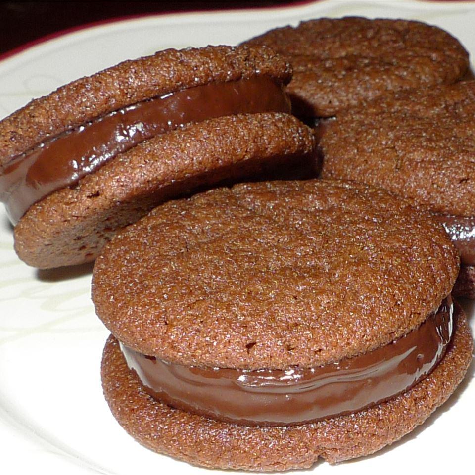 Chocolate Mint-Filled Cookies Deborah