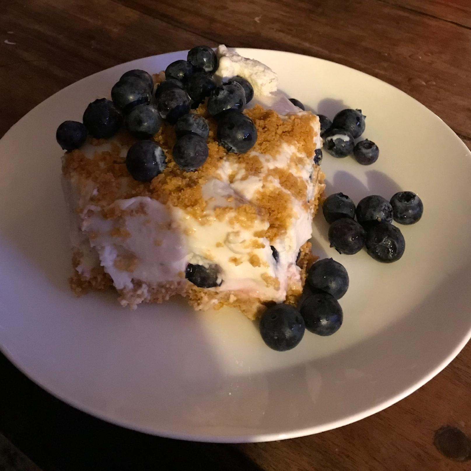 Blueberry Cream Dessert Shirliris