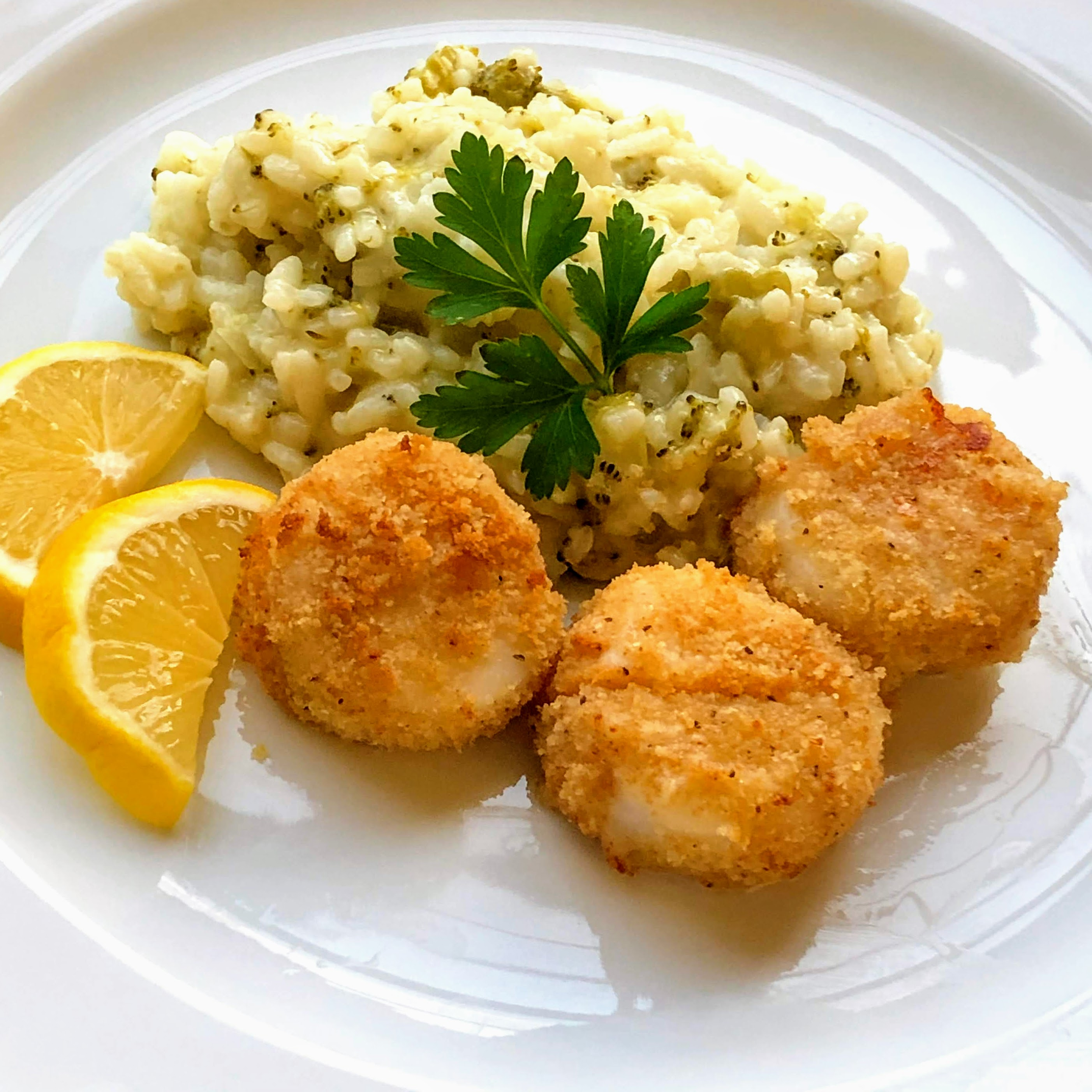 Air Fryer Breaded Sea Scallops