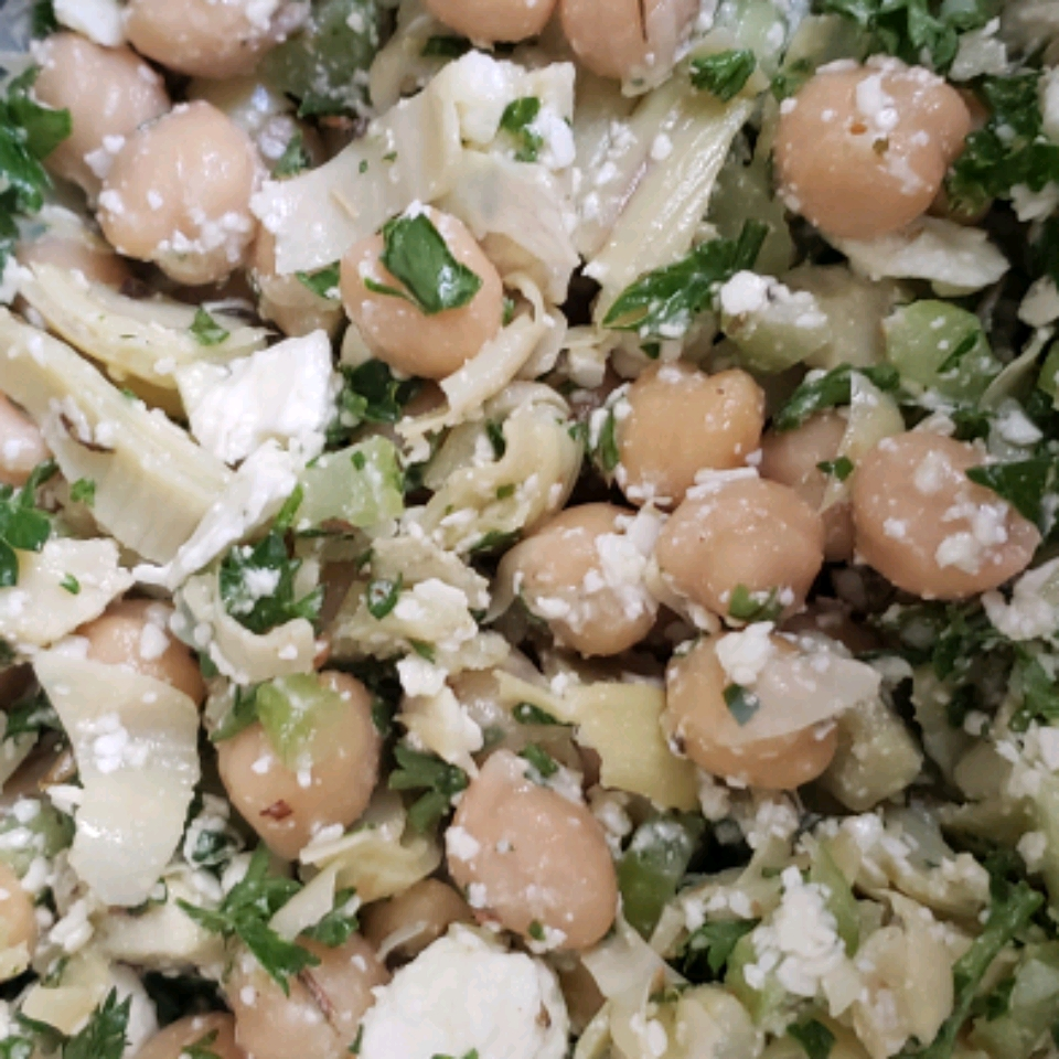 Chickpea, Artichoke, and Feta Salad Angela Register