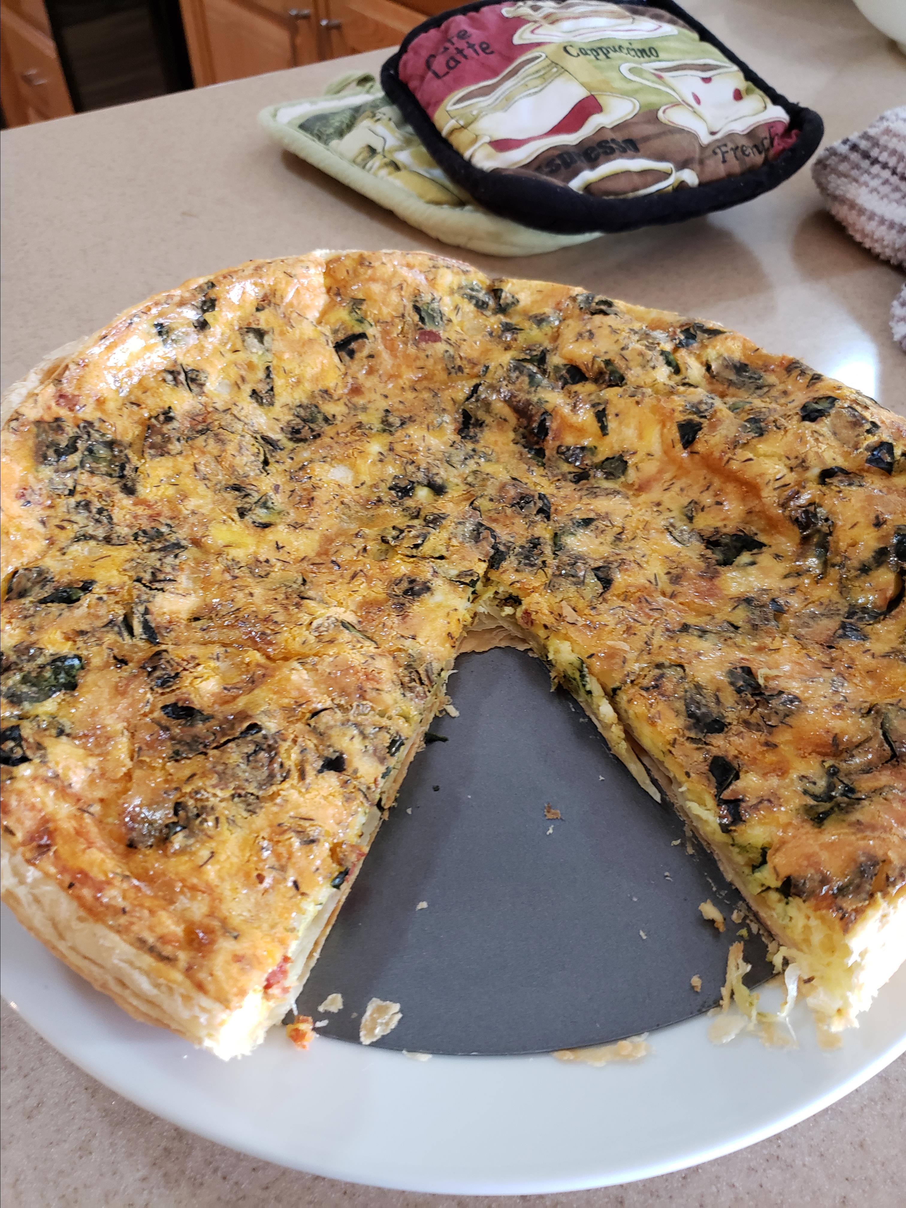 Leek, Spinach, and Mushroom Tart Tumbleweed