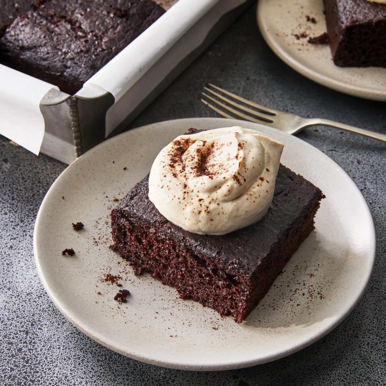 This Irish stout cake can't get any easier: everything is mixed in one bowl, poured into the cake pan and is in the oven in 15 minutes flat. Lining the cake pan with parchment paper makes removing the cake easy and helps with cleanup. After this rich chocolate cake has cooled, enjoy it with the espresso- and Irish whiskey-laced whipped cream topping. Source: EatingWell.com, January 2020
