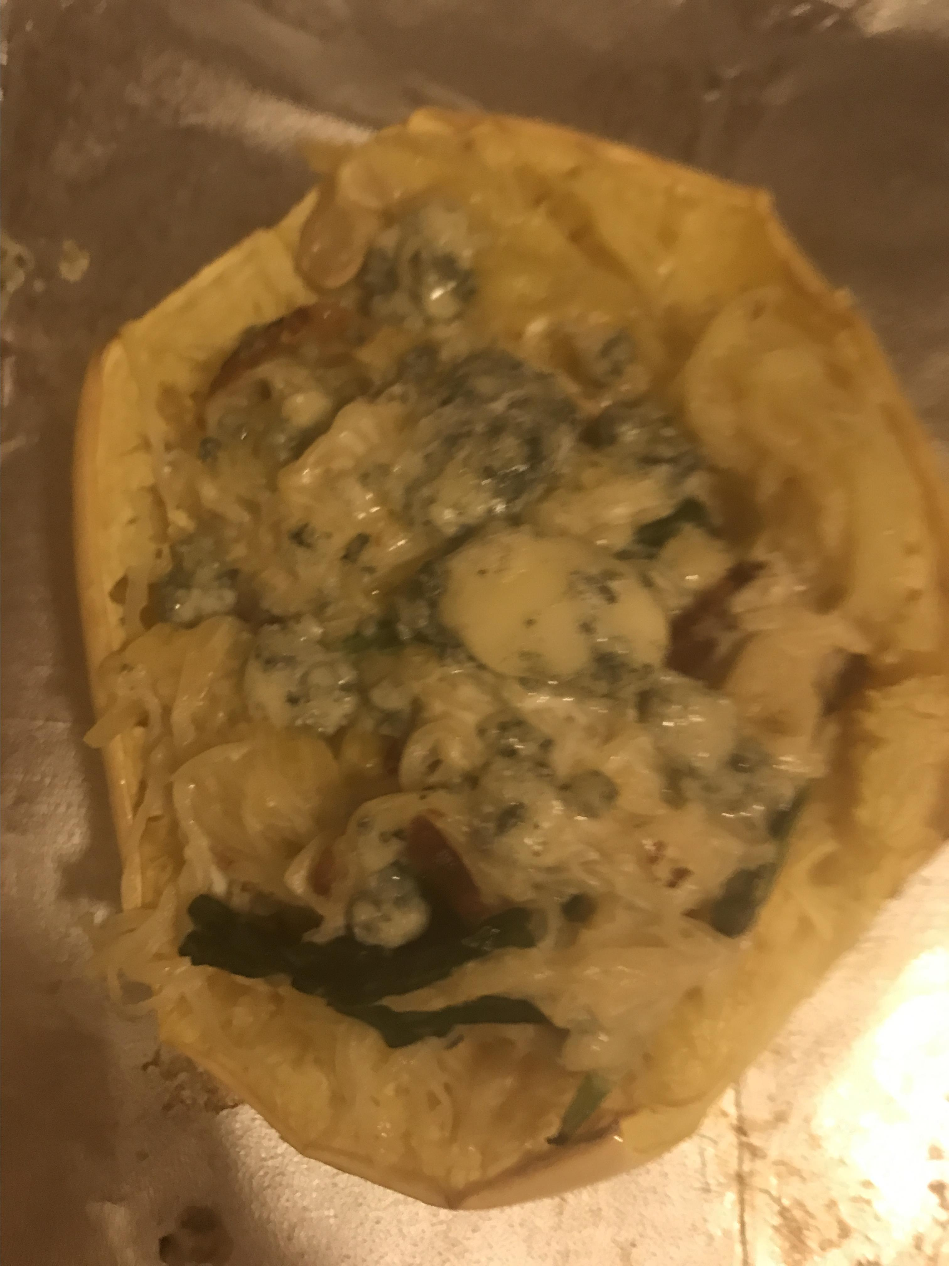 Keto Spaghetti Squash with Bacon and Blue Cheese Eileen