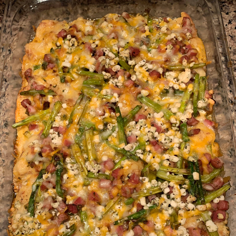 Ham, Asparagus, and Goat Cheese Strata Kathryn Vollmer