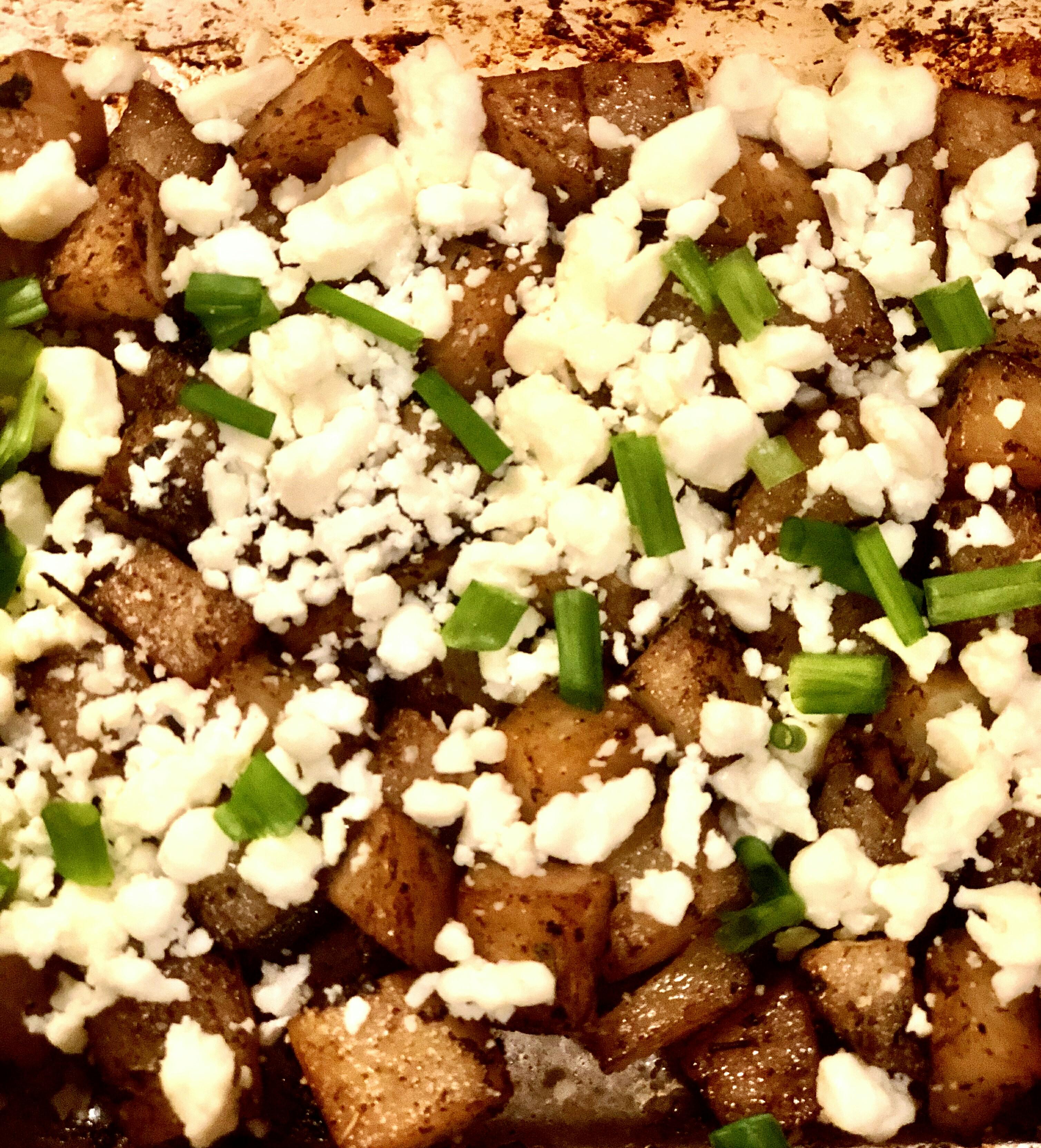 Feta Roasted Potatoes