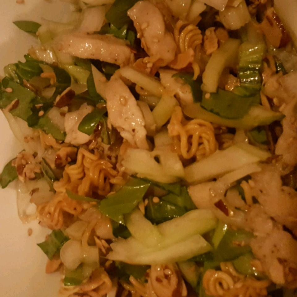 Crunchy Ramen-Bok Choy Salad Hailey Demiglio