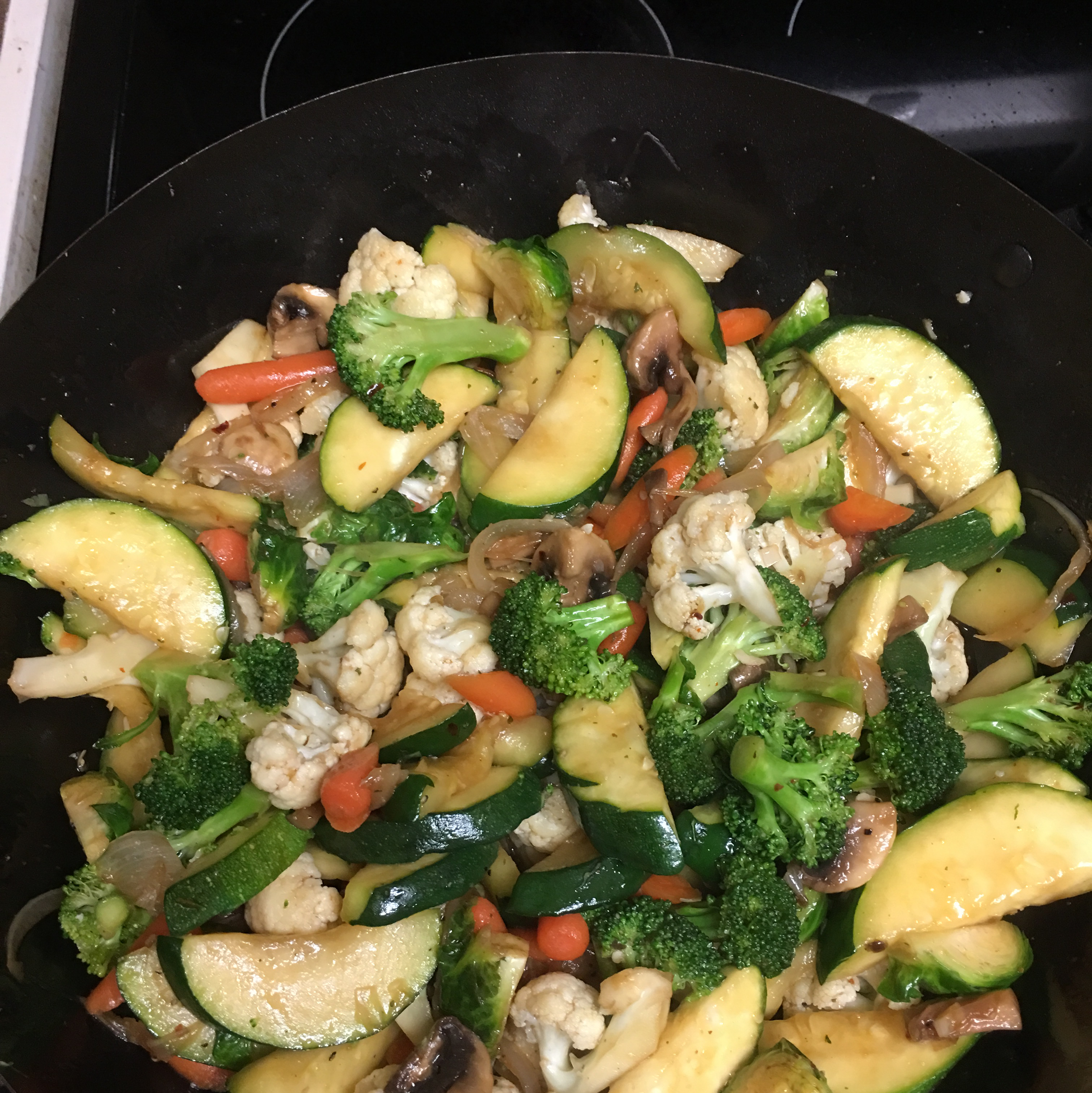 Zucchini and Soy Bean Stir Fry