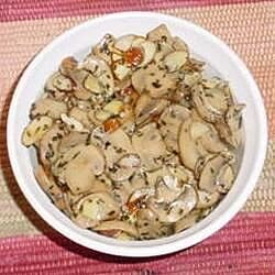 baked brie with mushrooms and almonds recipe